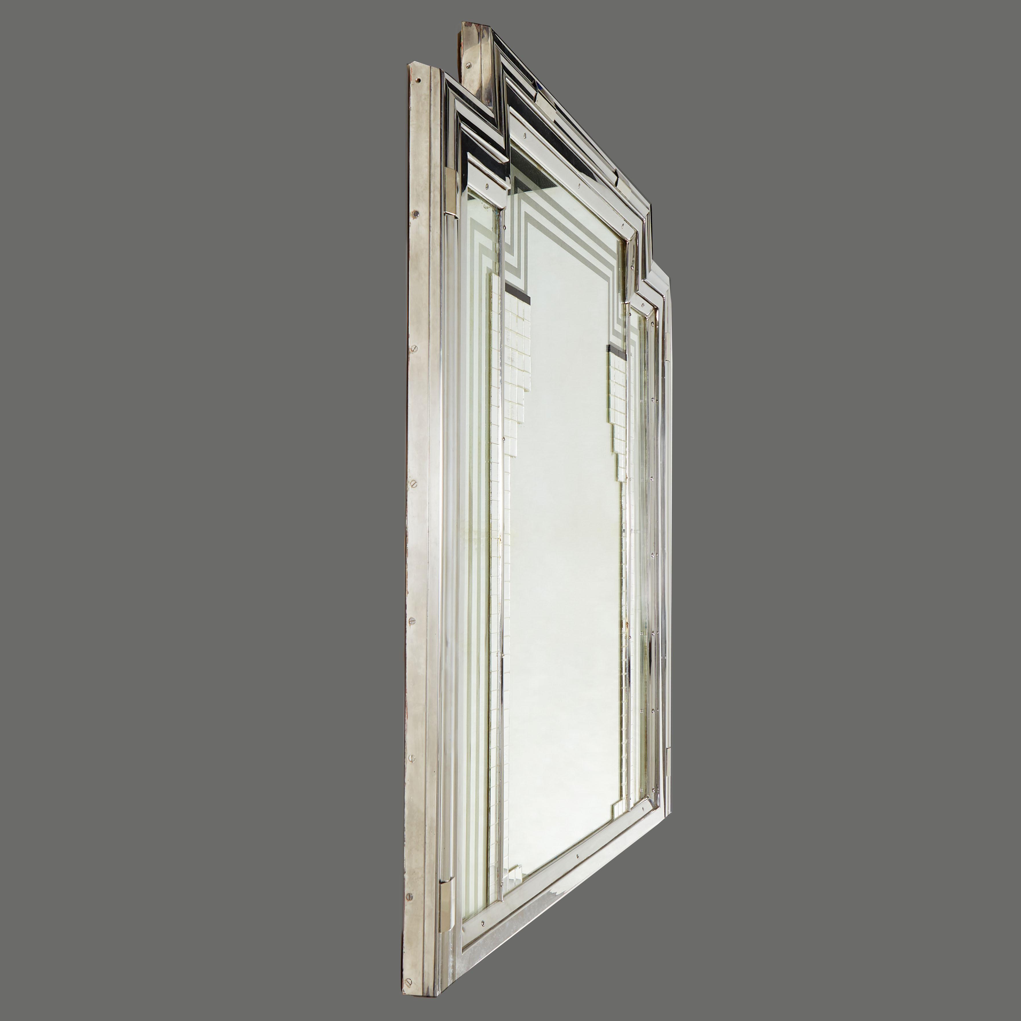 1930S Deco Wall Mirror 0165 V2