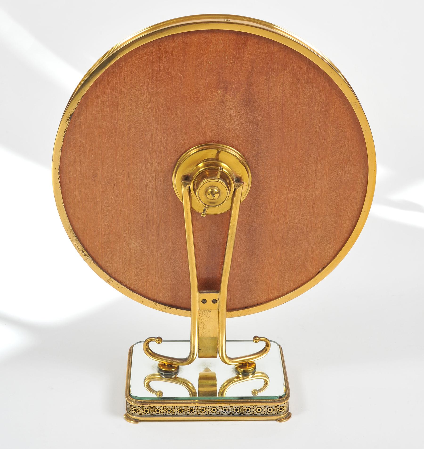 1940S Brass Table Mirror–05