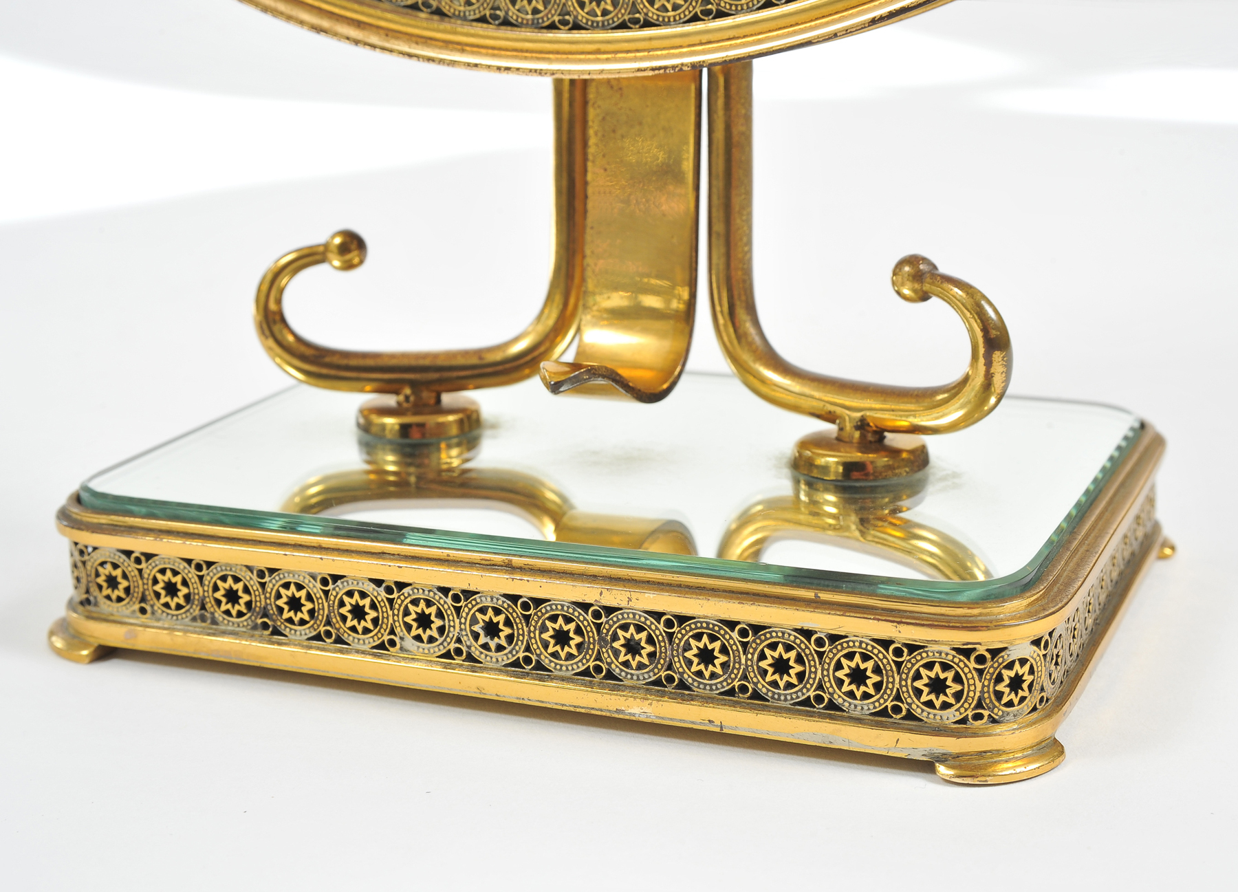 1940S Brass Table Mirror–07