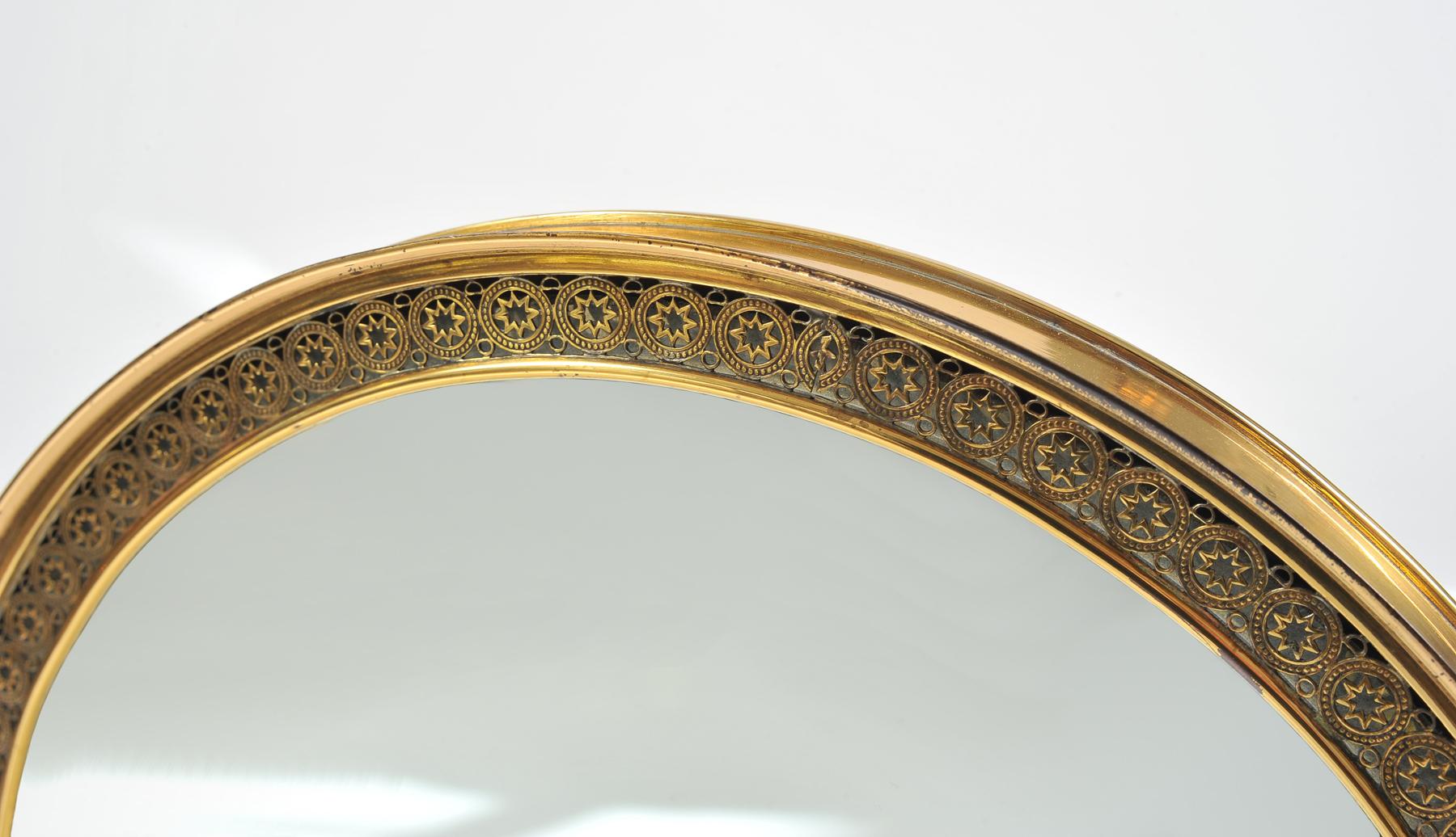 1940S Brass Table Mirror–09