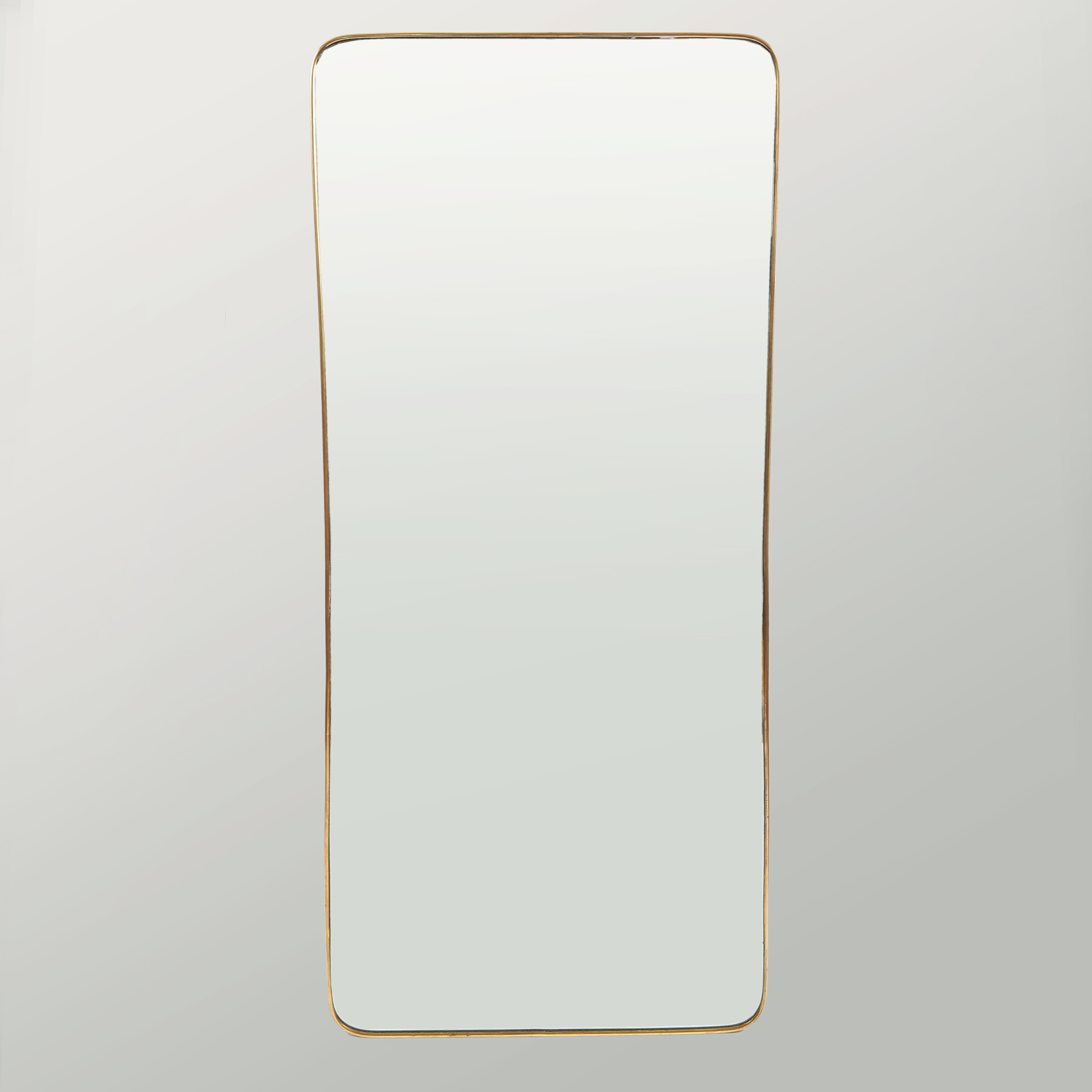 1950 Shaped Brass Mirror 01