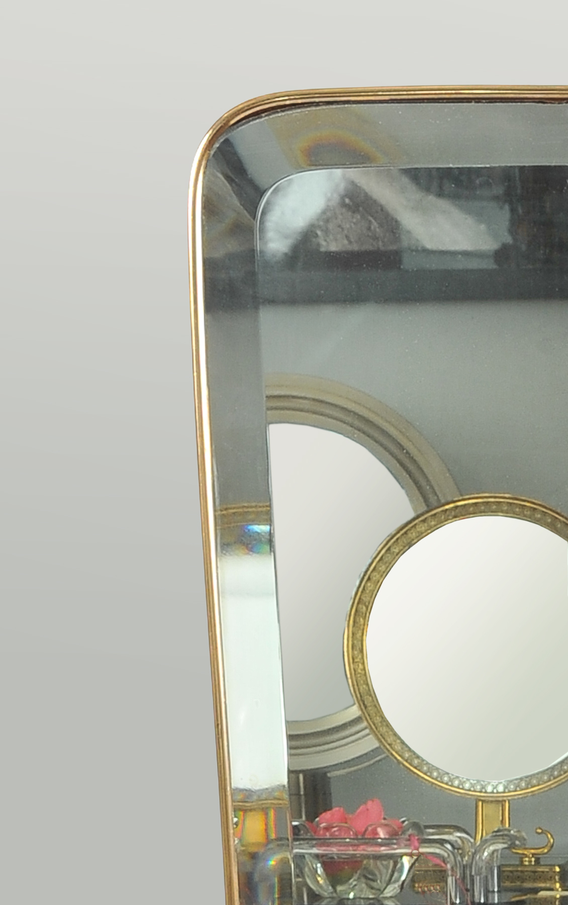 1950 Shaped Brass Mirror 02