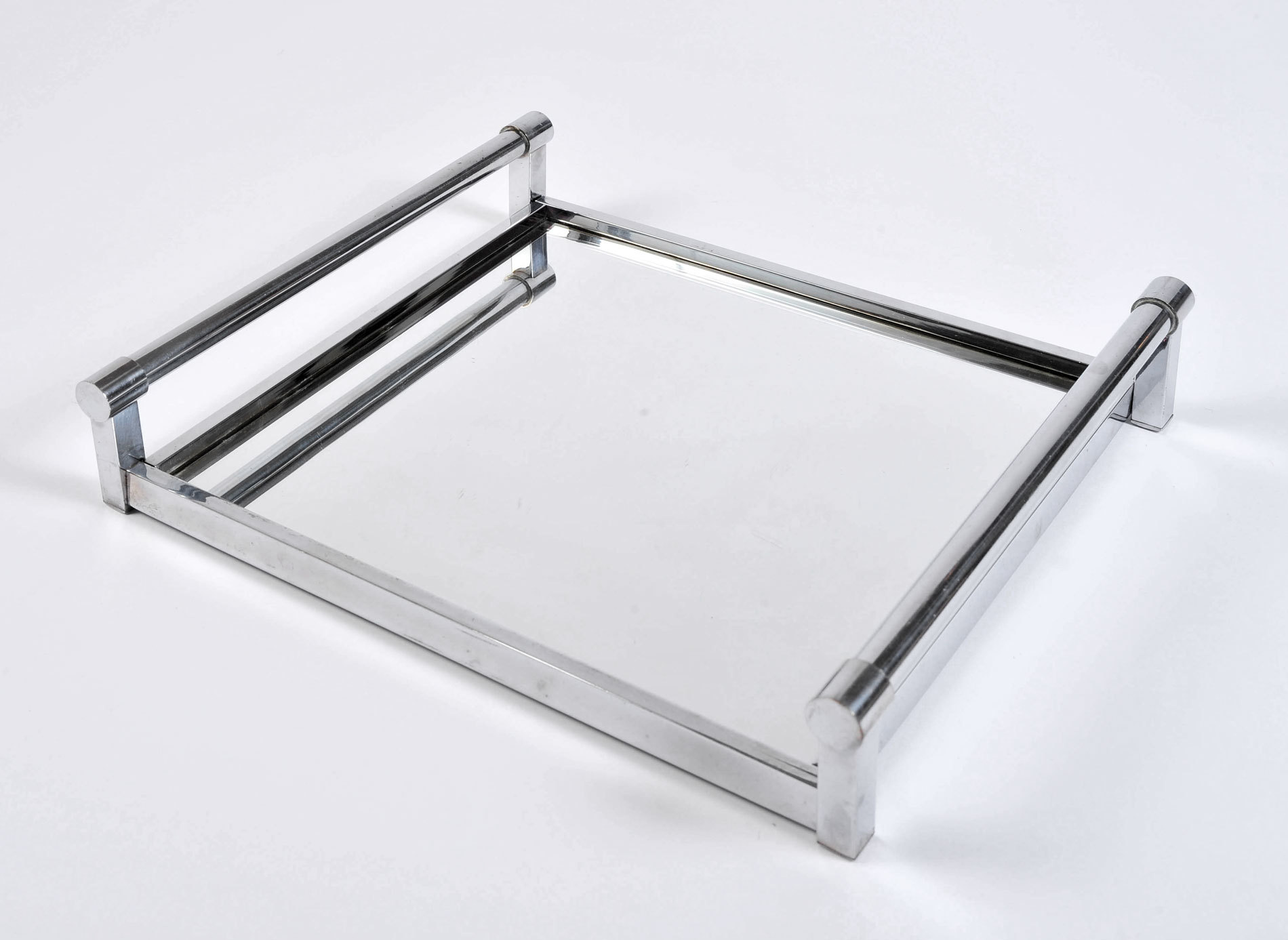 The image for 1950S Rectangular Chrome Tray 03