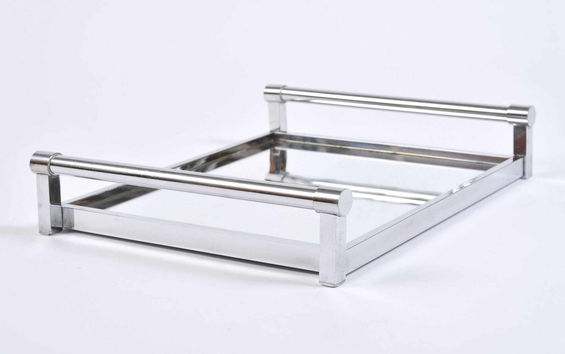 The image for 1950S Rectangular Chrome Tray 04