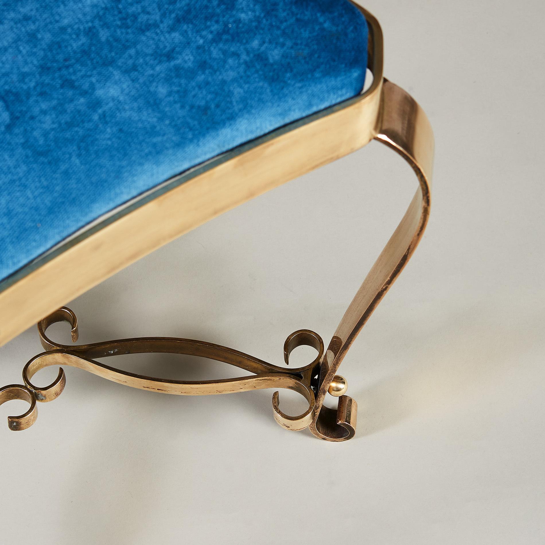 Italian Brass Stool 20210225 Valerie Wade 2 094 V1