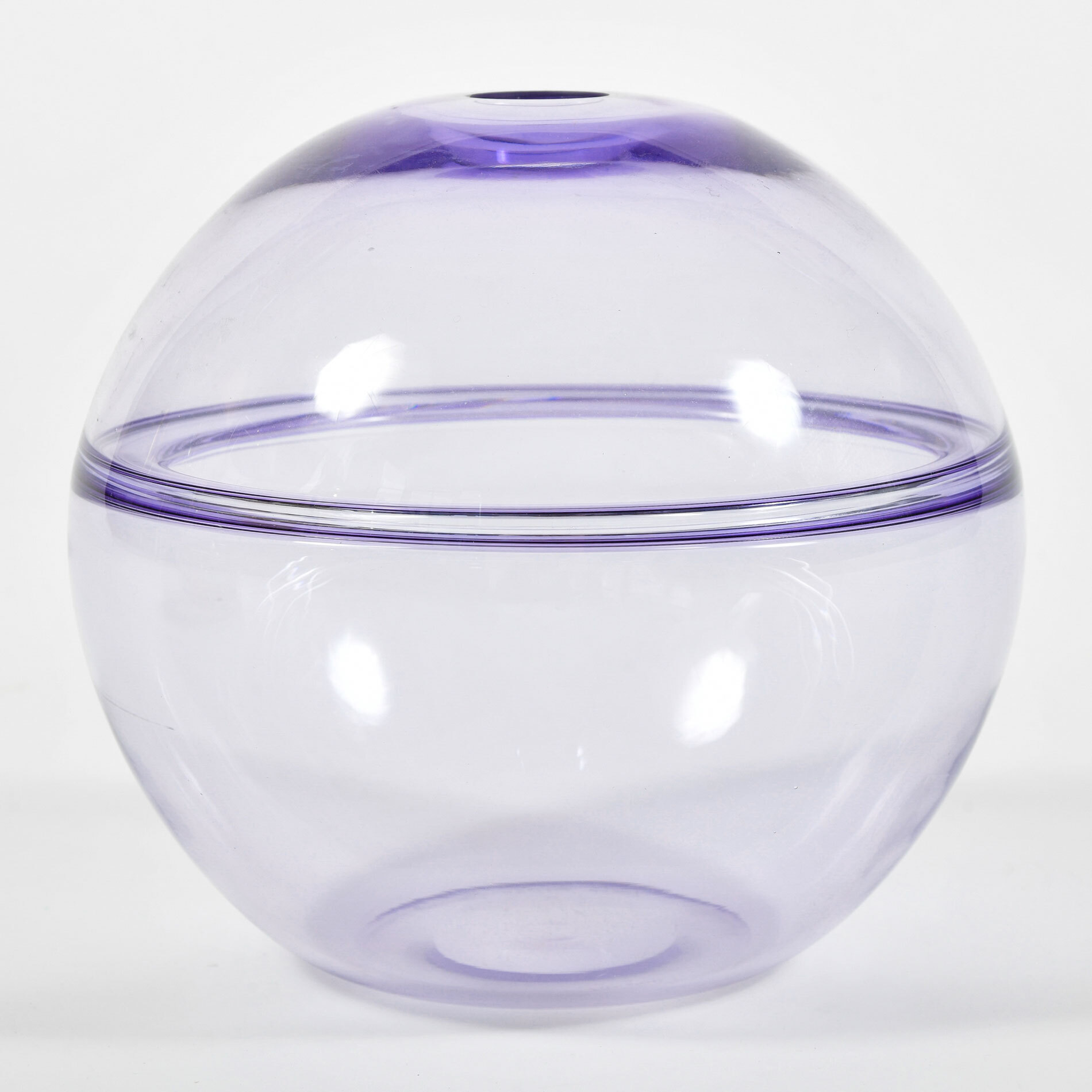The image for 1950S Purple Murano Globe Vase 01