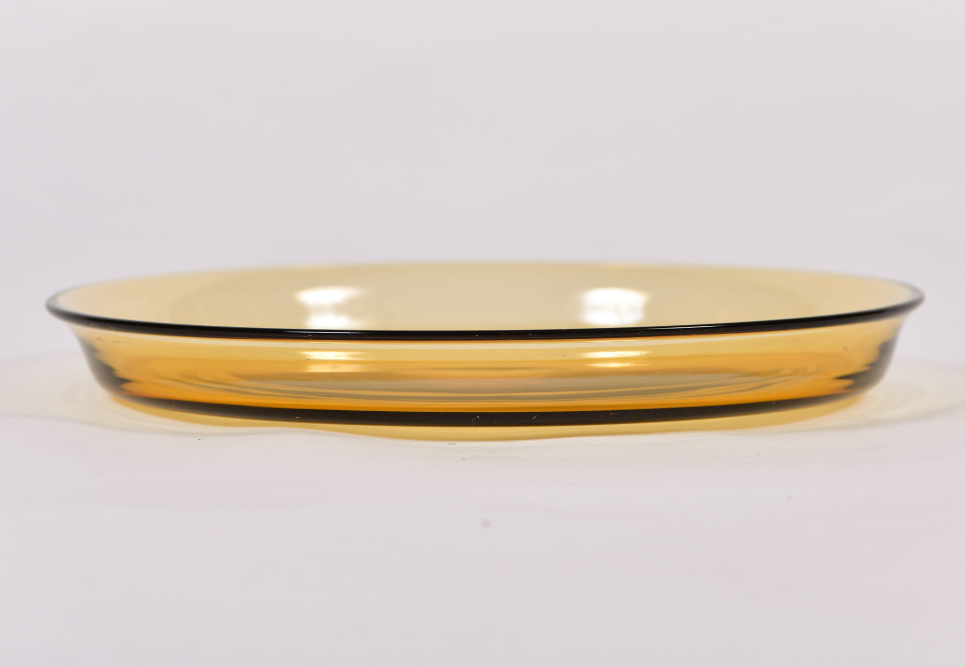 The image for 1960S Italian Amber Glass Dish 03