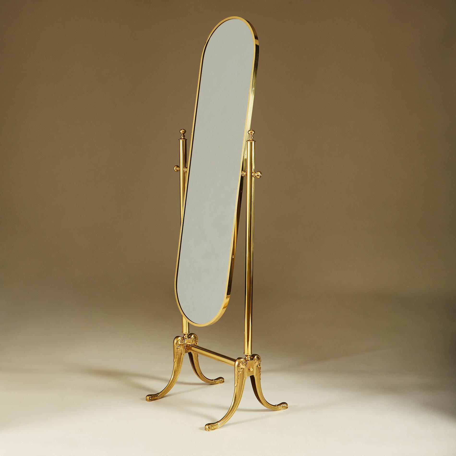 Brass Standing Mirror 268 V1