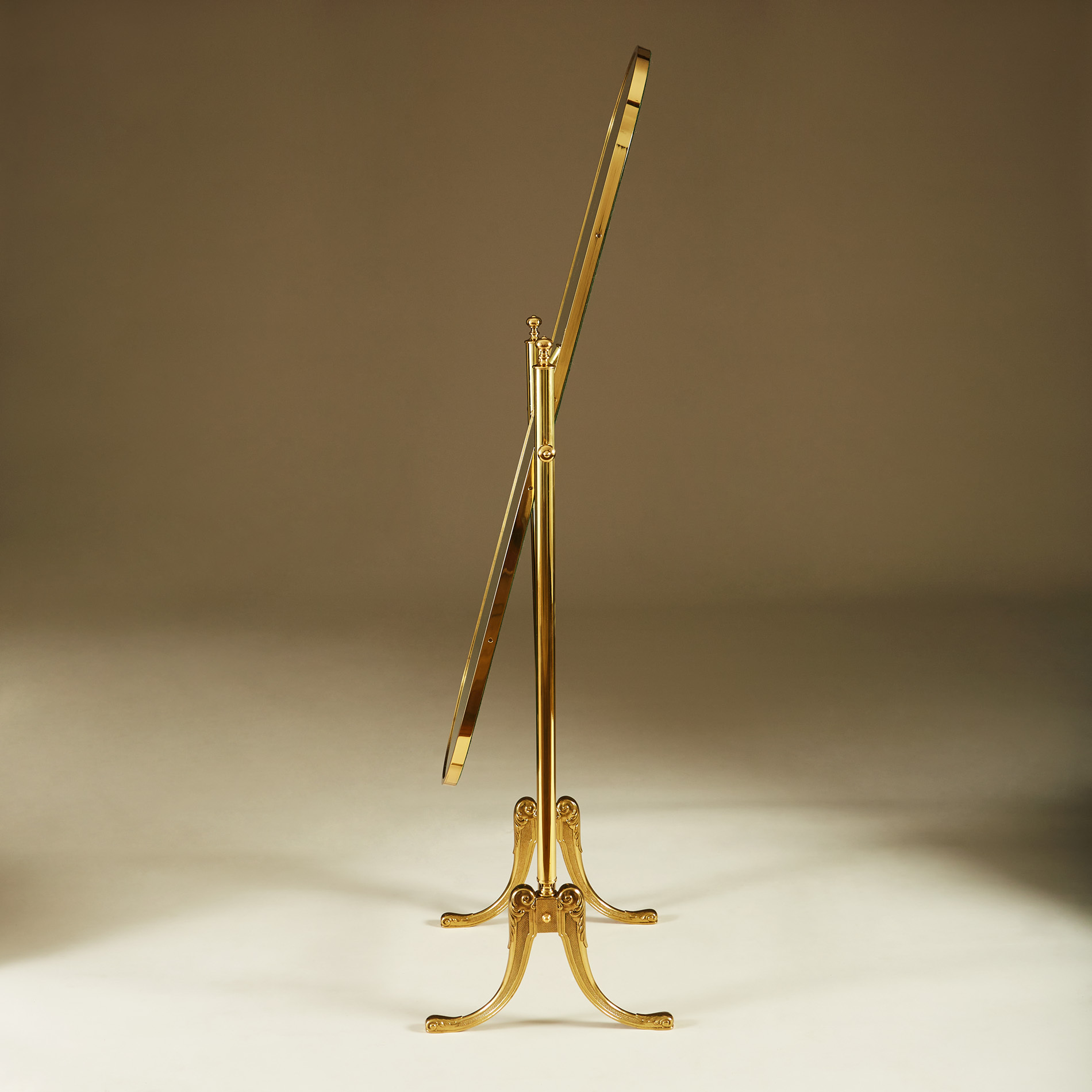 Brass Standing Mirror 272 V1