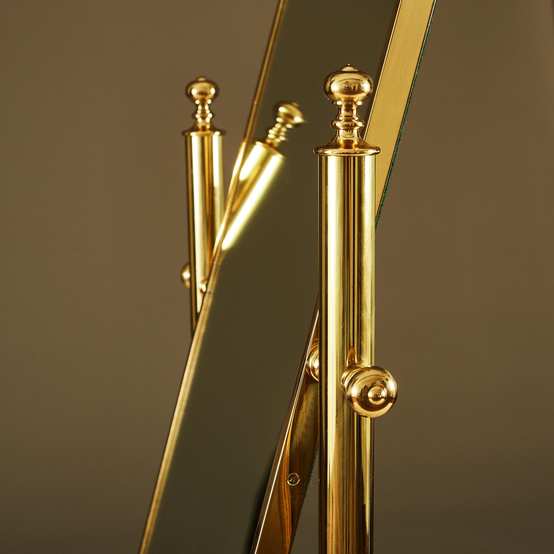 Brass Standing Mirror 273 V1
