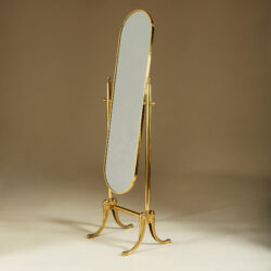The image for Brass Standing Mirror 268 V1
