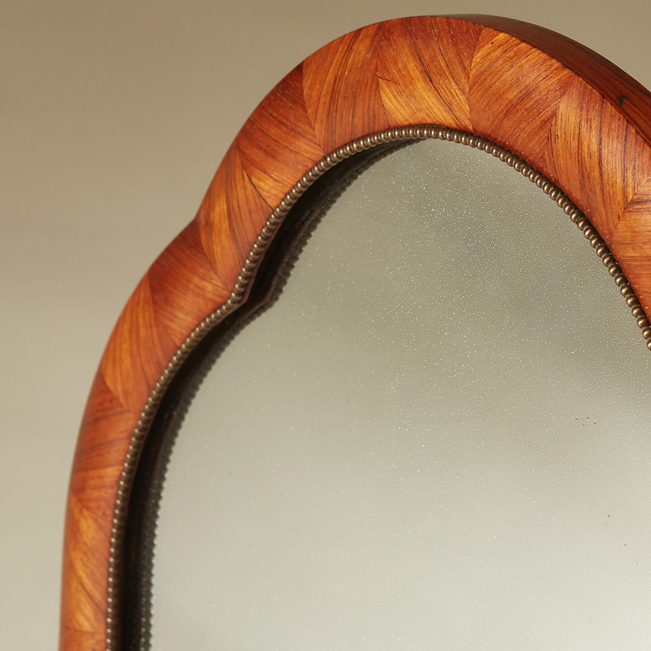 Walnut Dressing Table Mirror 0015 V1