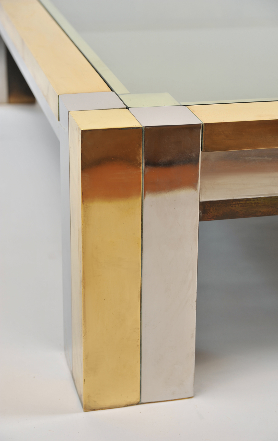 Brass Chrome Coffee Table 03