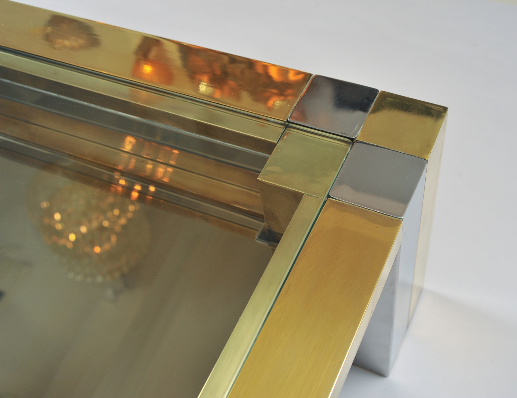 Brass Chrome Coffee Table 04