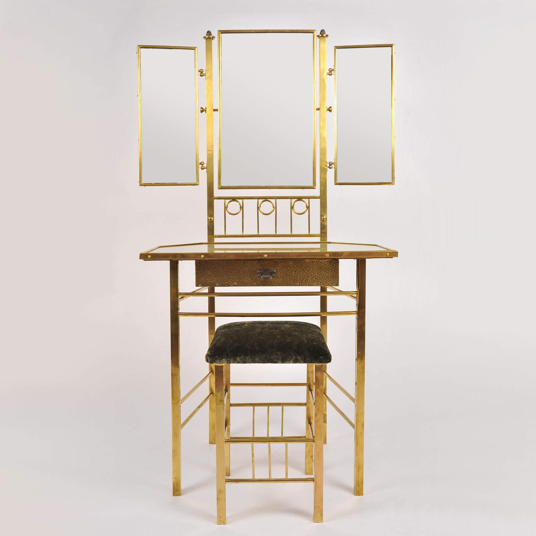 Brass Dressing Table And Stool 01 Vw