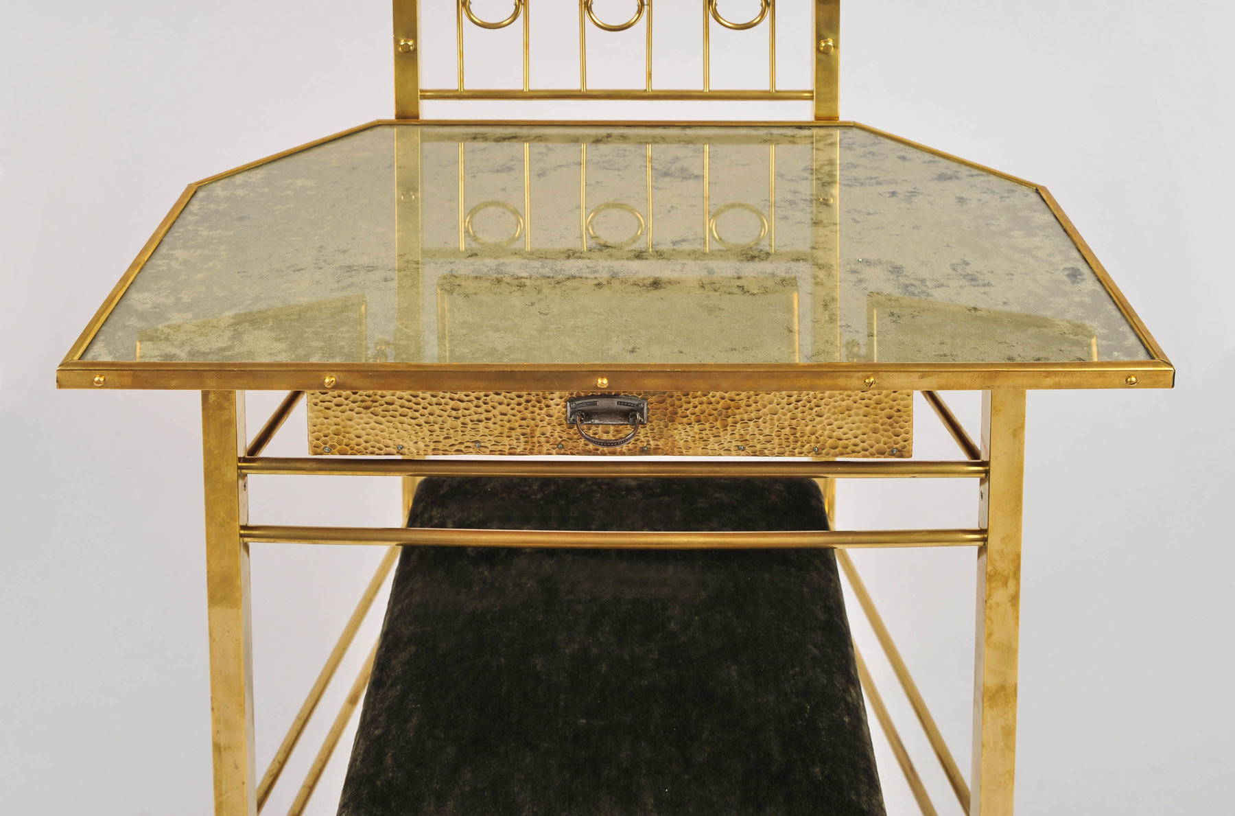 Brass Dressing Table And Stool 06 Vw