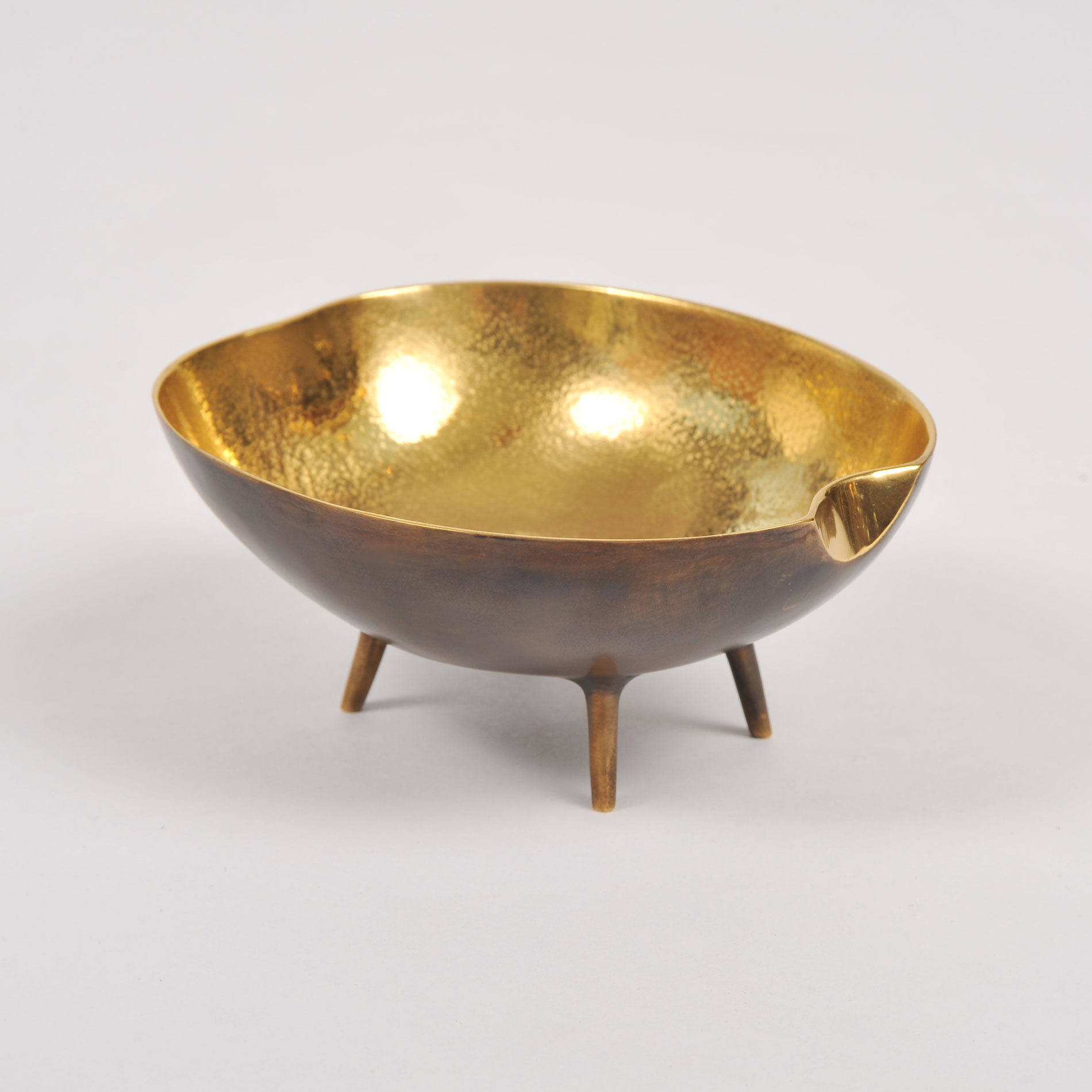 The image for Brass Tripod Bowl 01