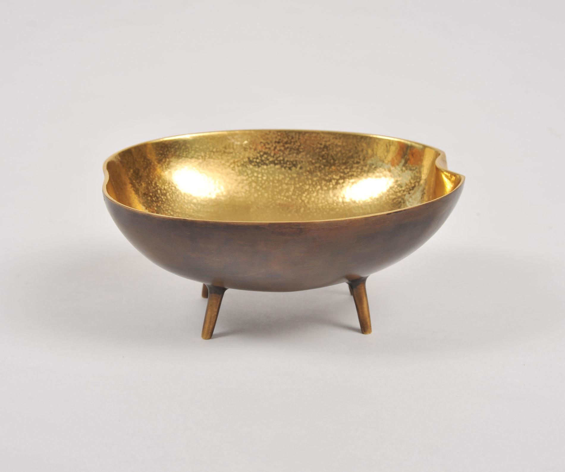 Brass Tripod Bowl 03