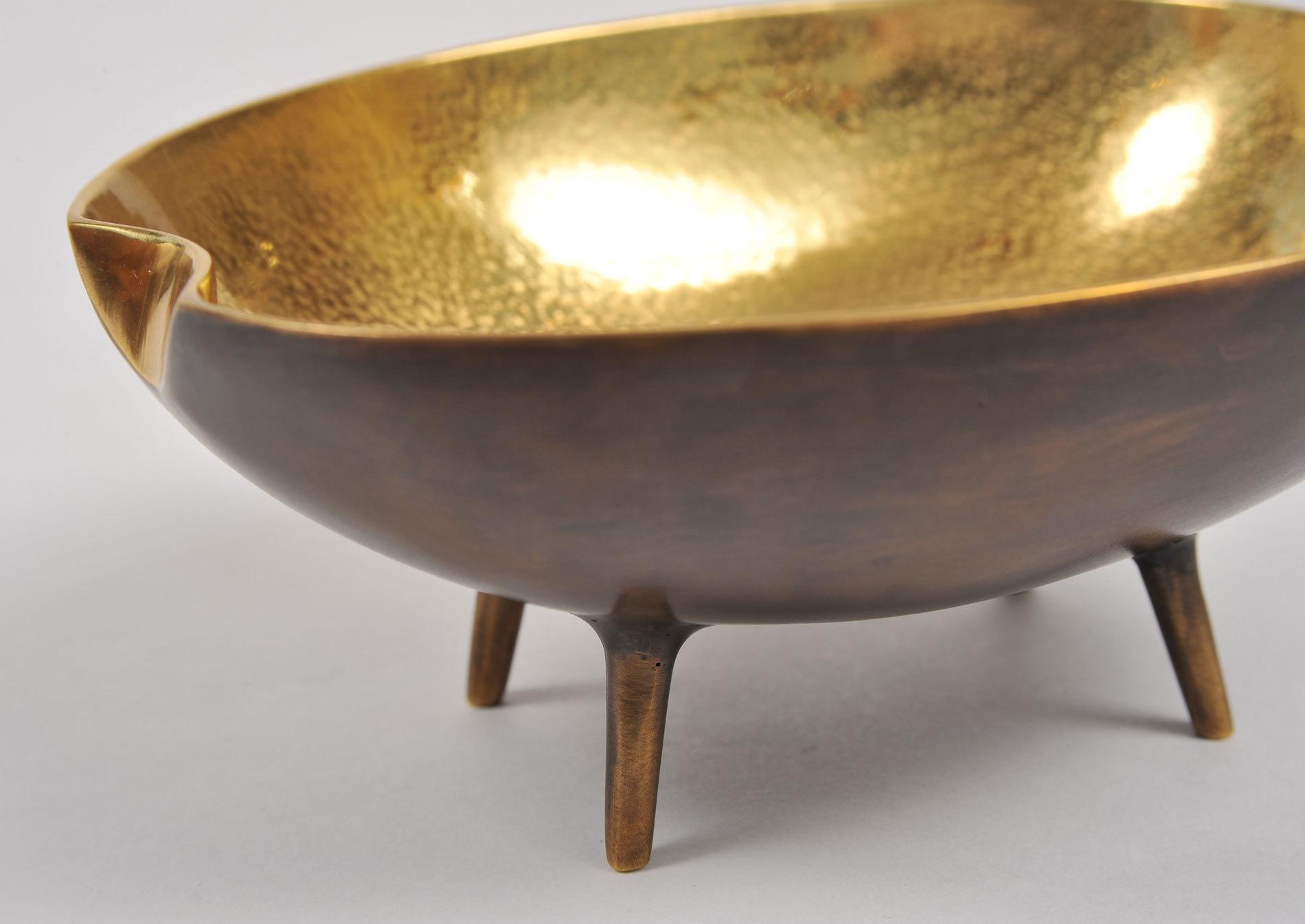 Brass Tripod Bowl 05