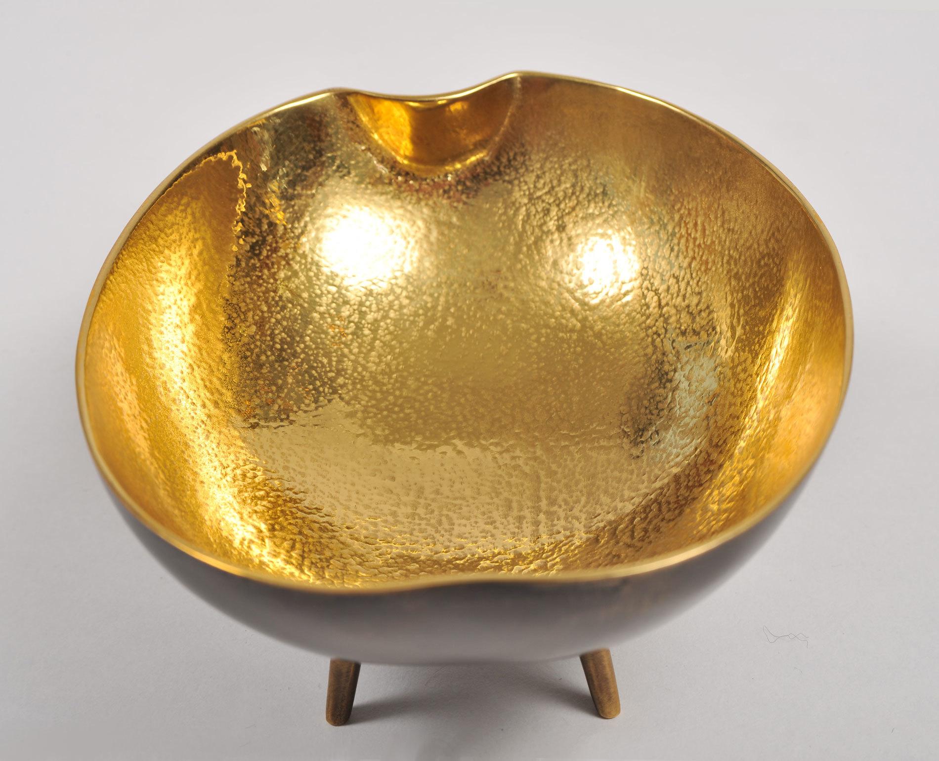 Brass Tripod Bowl 06