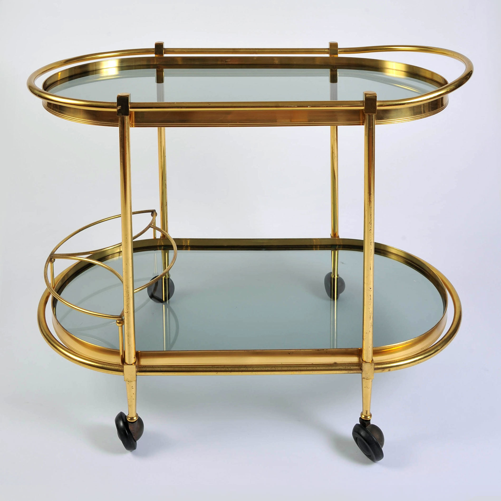 Brass Trolley Smoked Glass 01