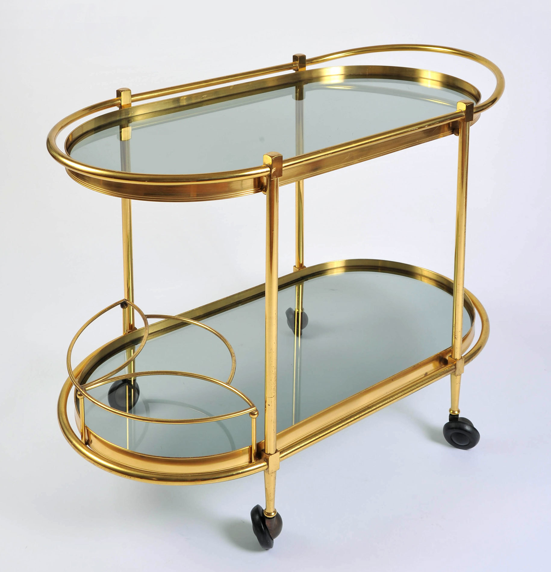 Brass Trolley Smoked Glass 02