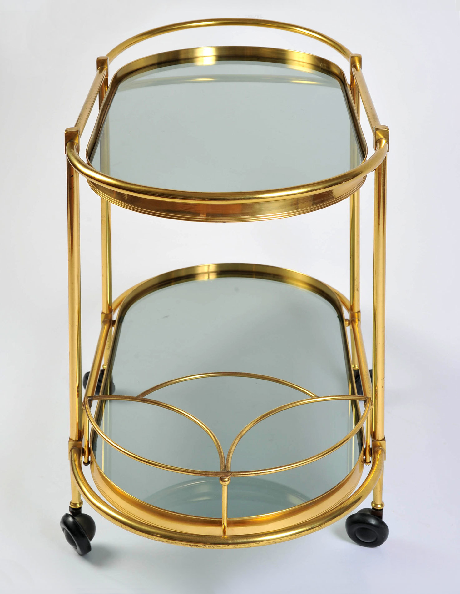 Brass Trolley Smoked Glass 03