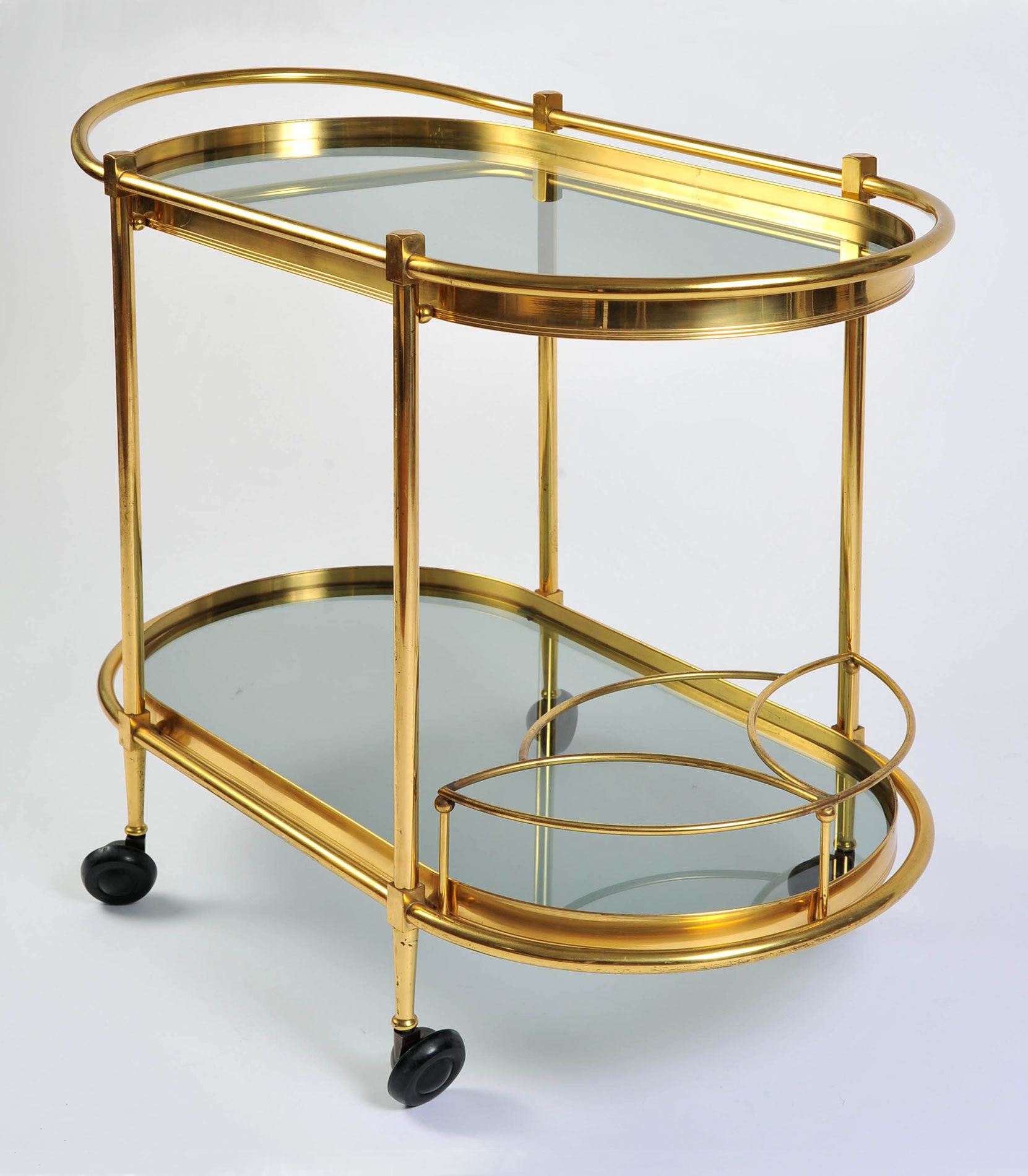 Brass Trolley Smoked Glass 04