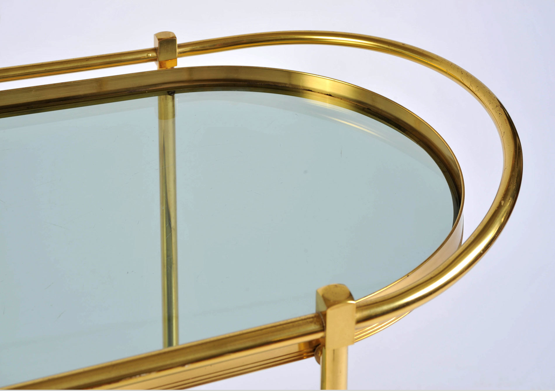 Brass Trolley Smoked Glass 05