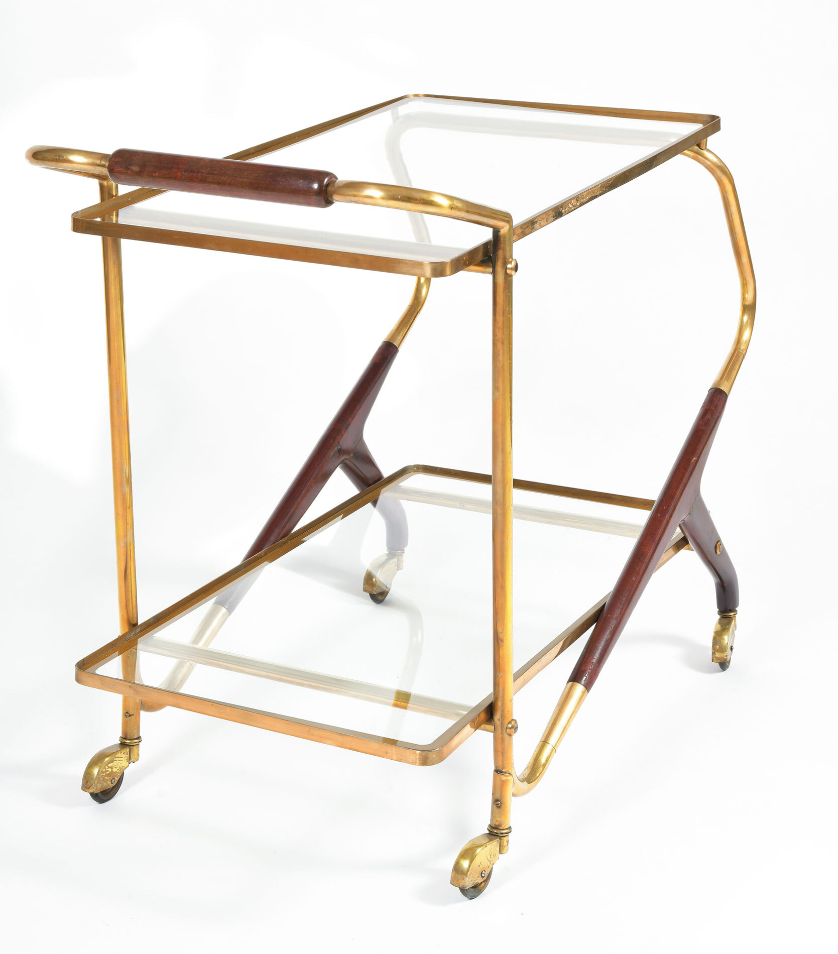 Brass And Mahogany Trolley 04