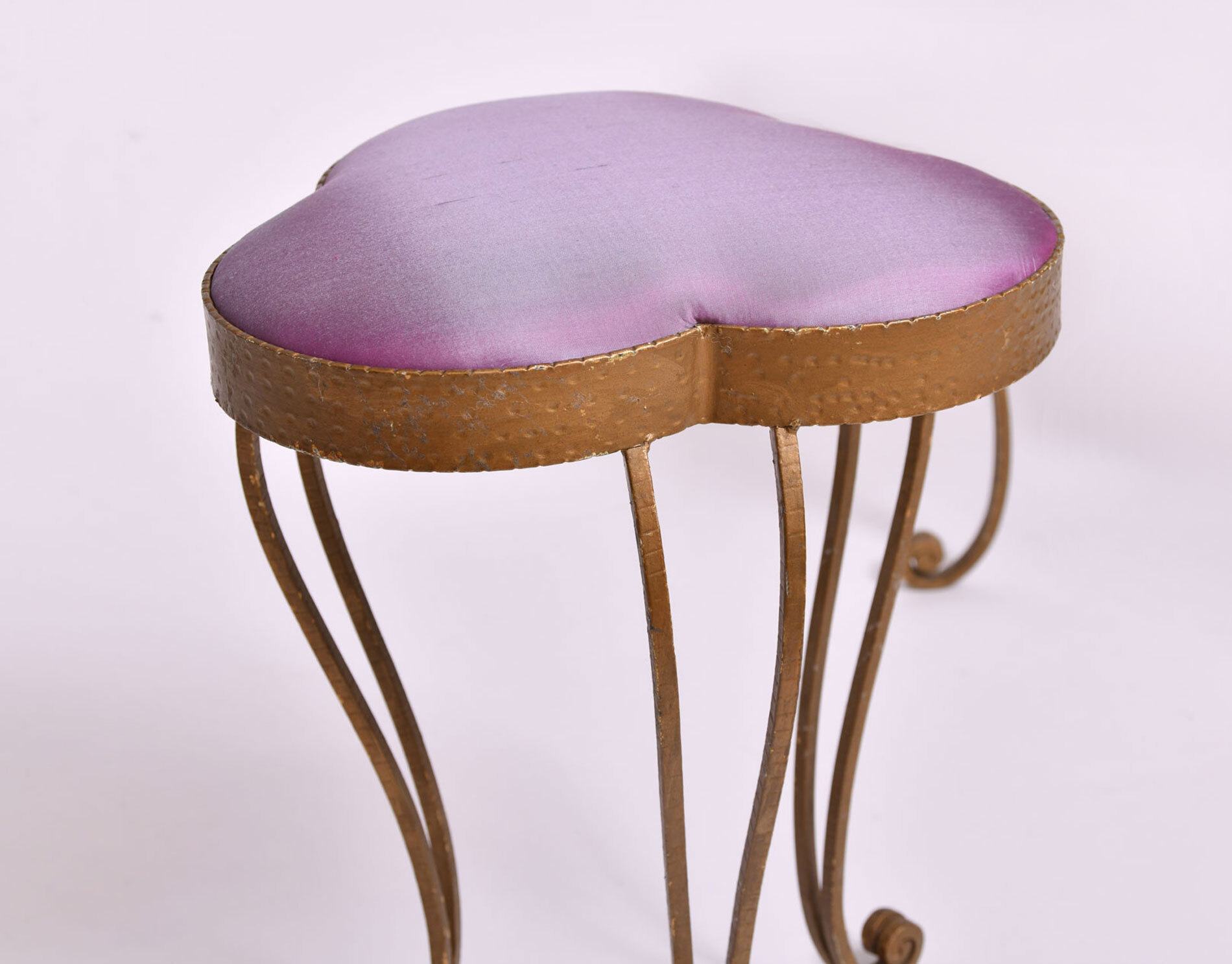 Brass Stool Purple Velvet 02