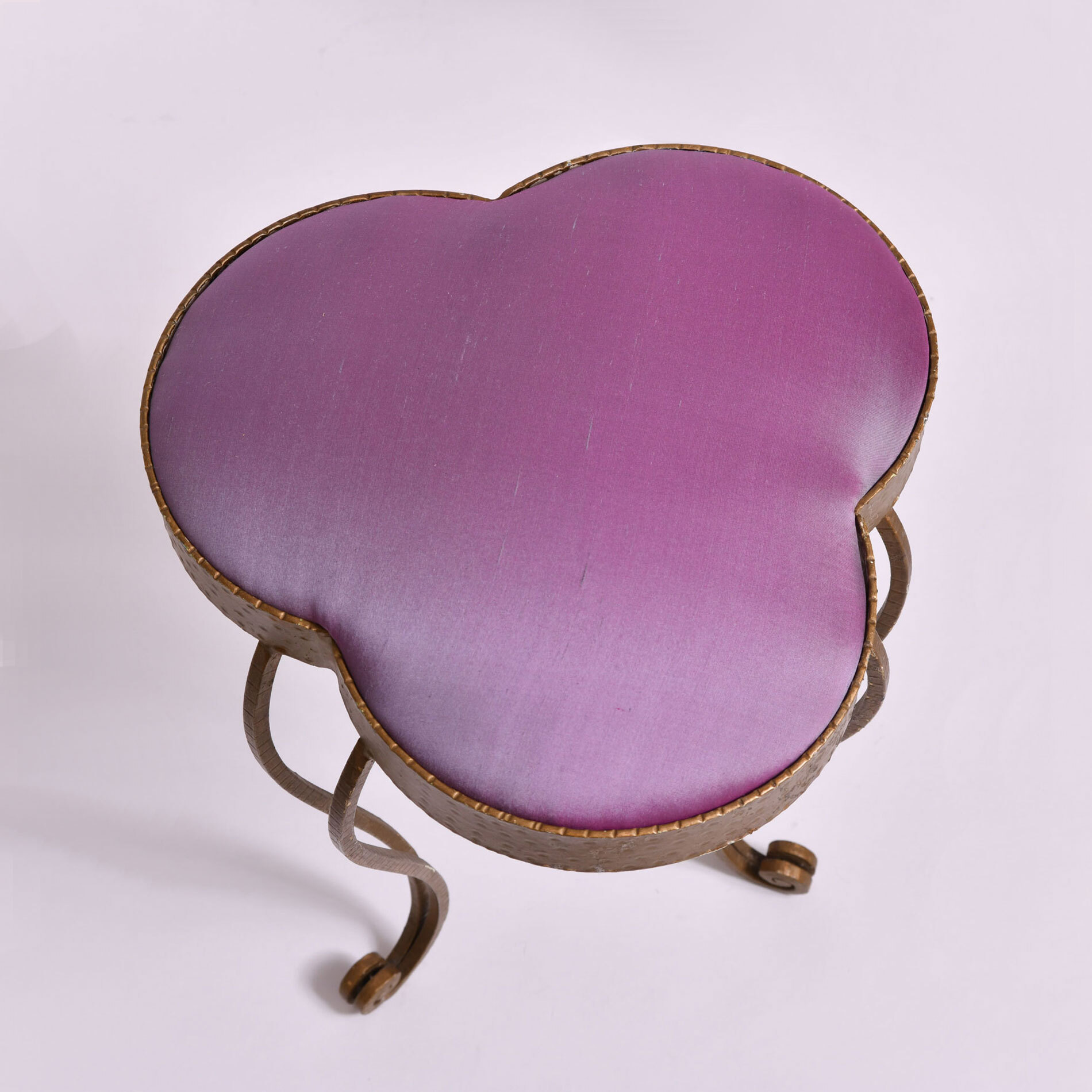 Brass Stool Purple Velvet 03