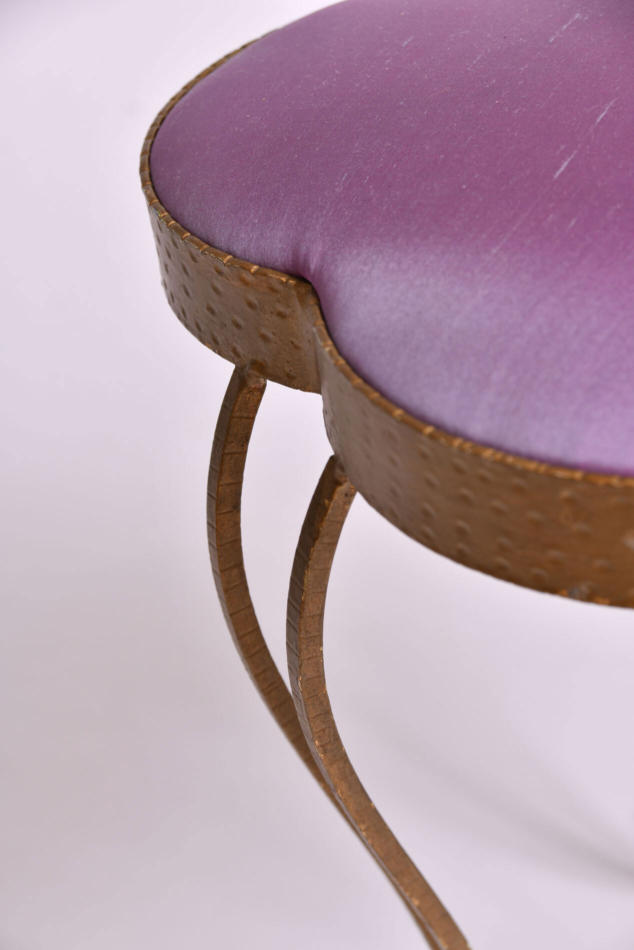 Brass Stool Purple Velvet 04