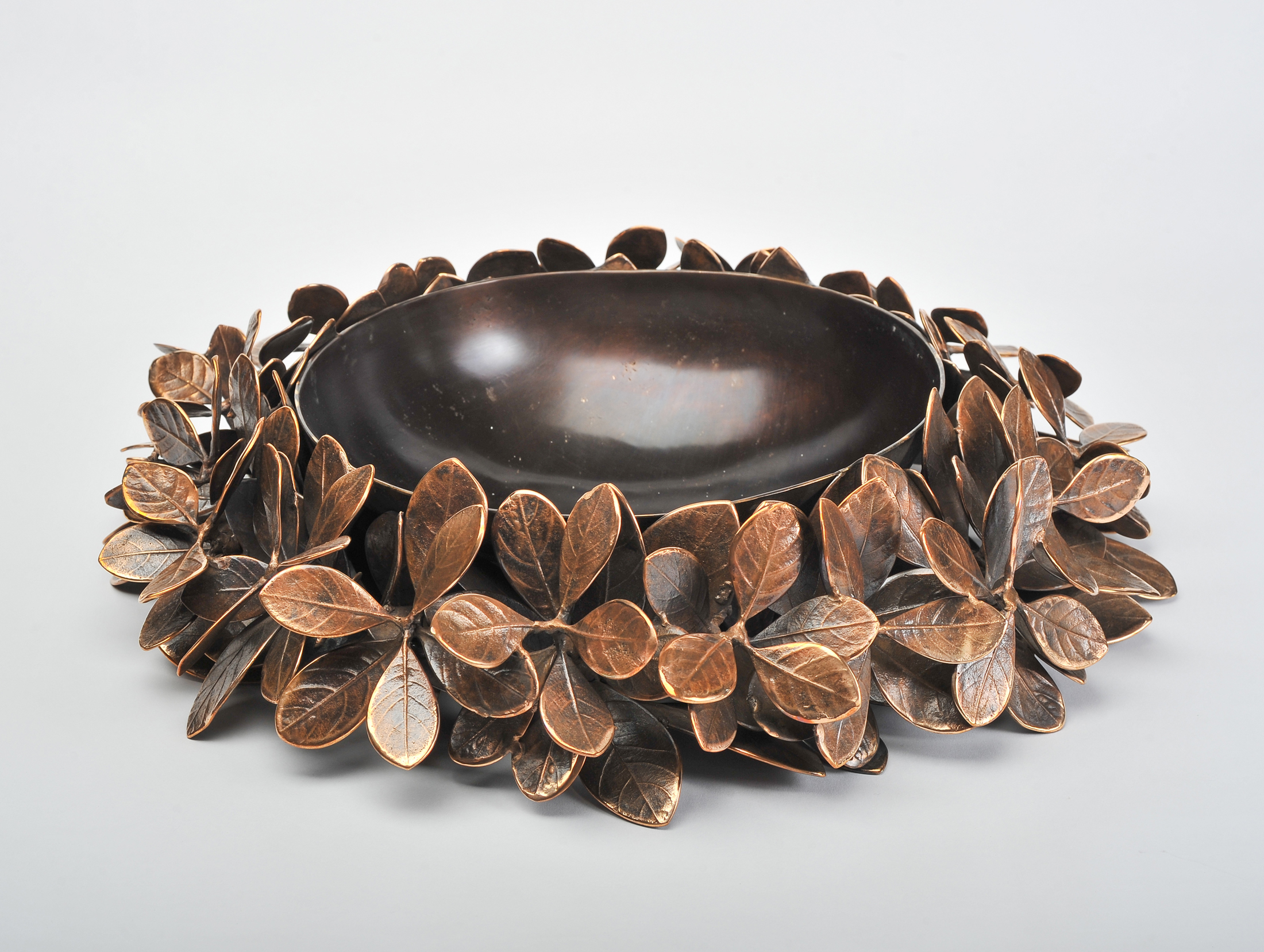 Cast Bronze Leaf Bowl 03