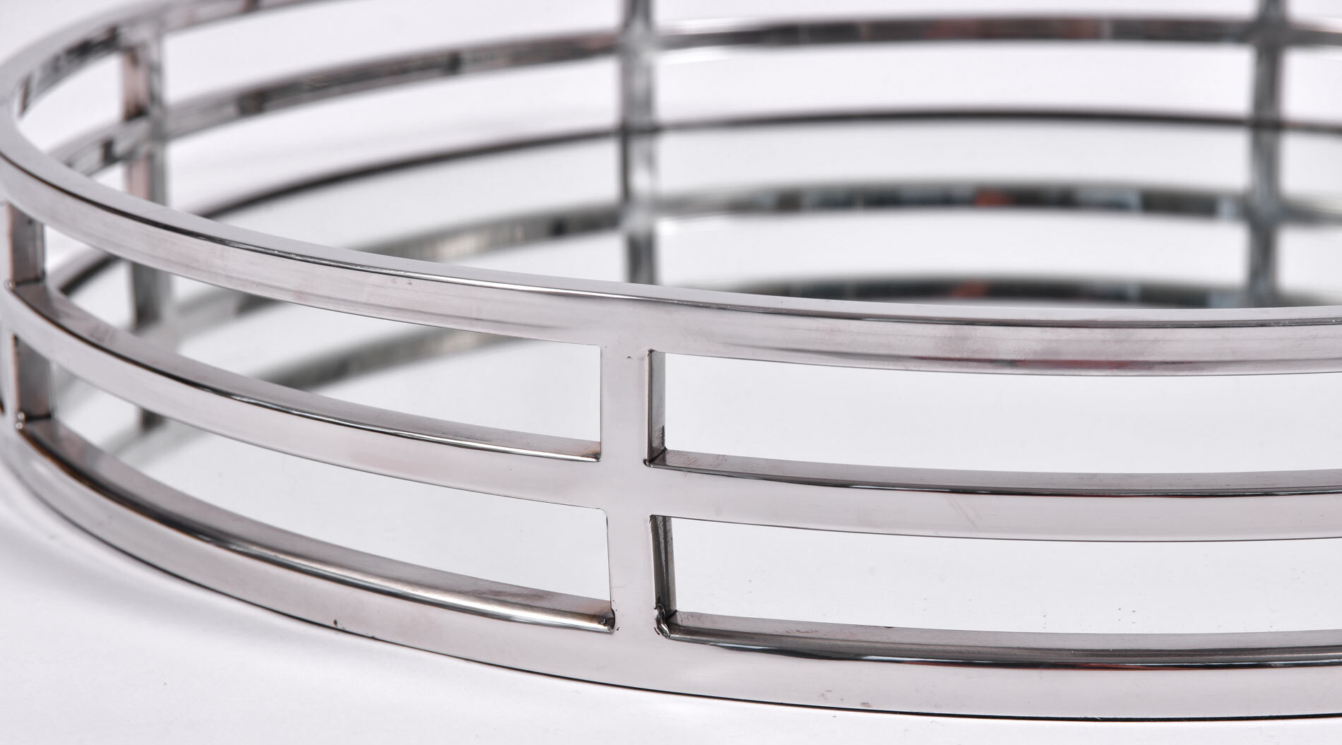 Circular Chrome Tray 04