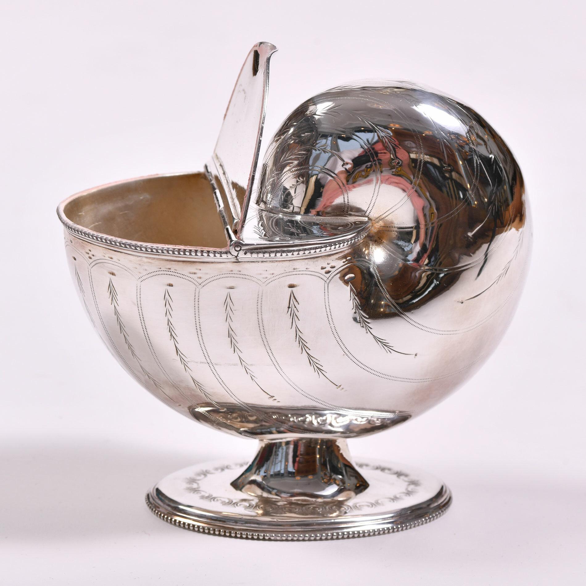 English Silver Plate Cornucopia 03