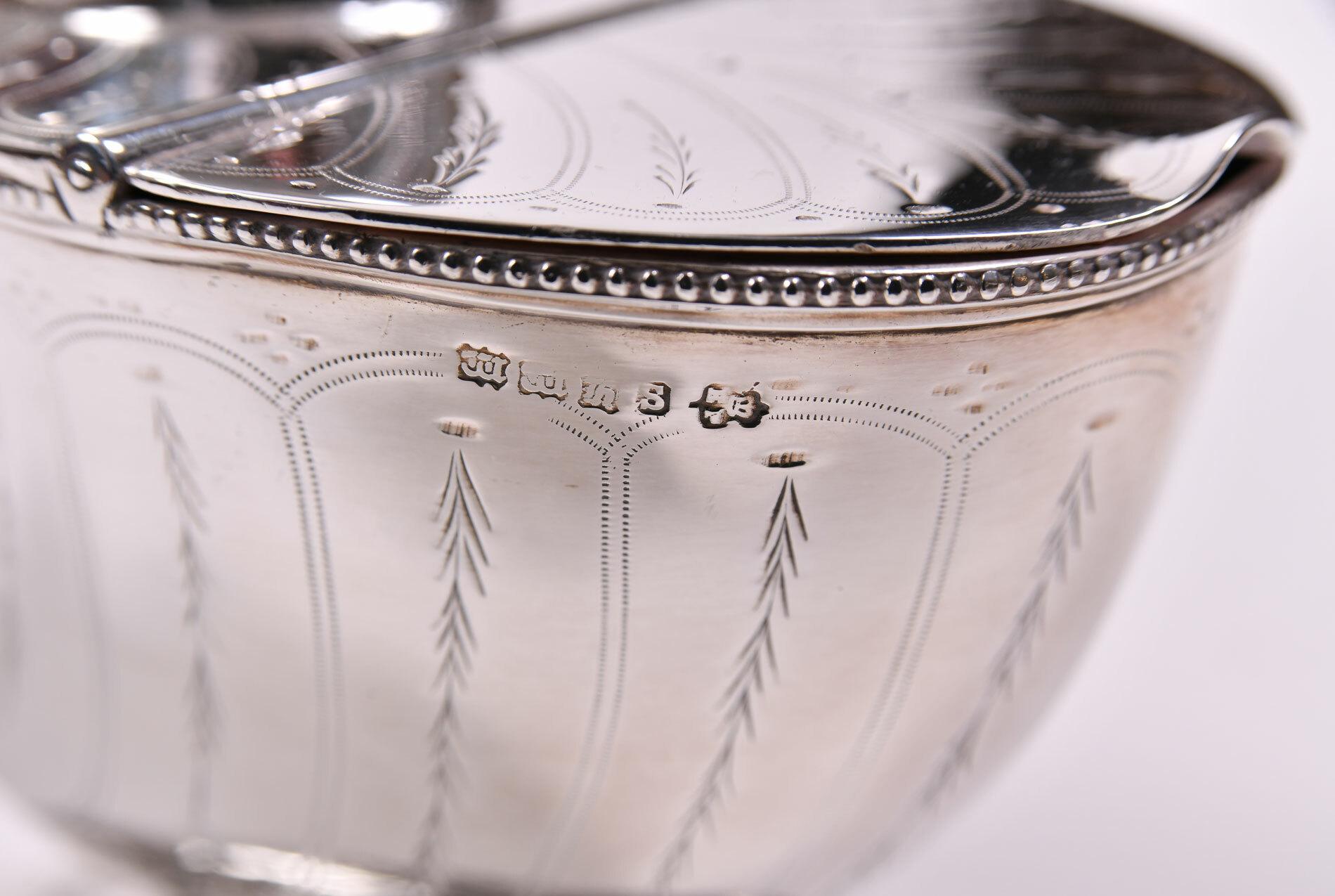 English Silver Plate Cornucopia 04