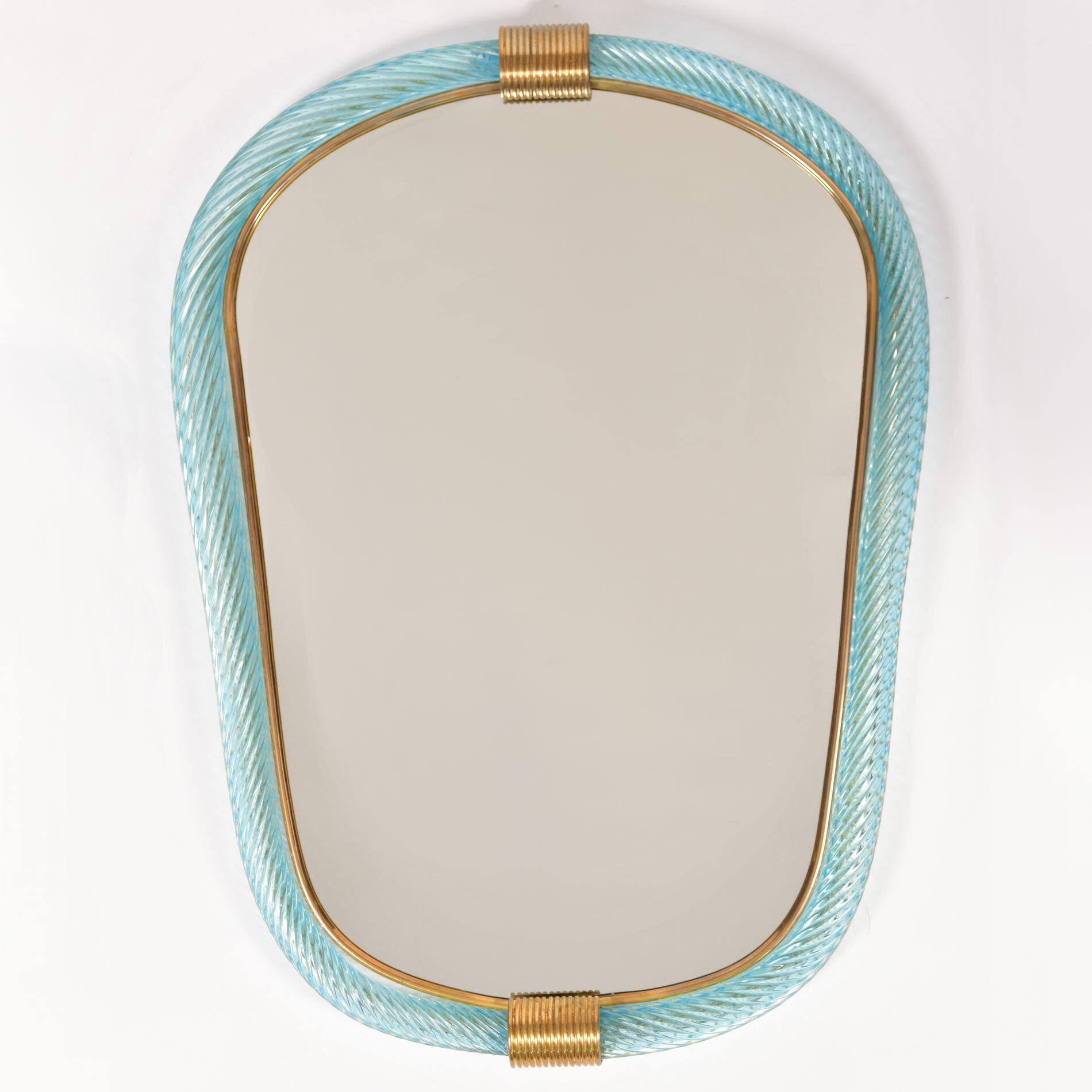 Firenze Mirror Blue Oblong 01