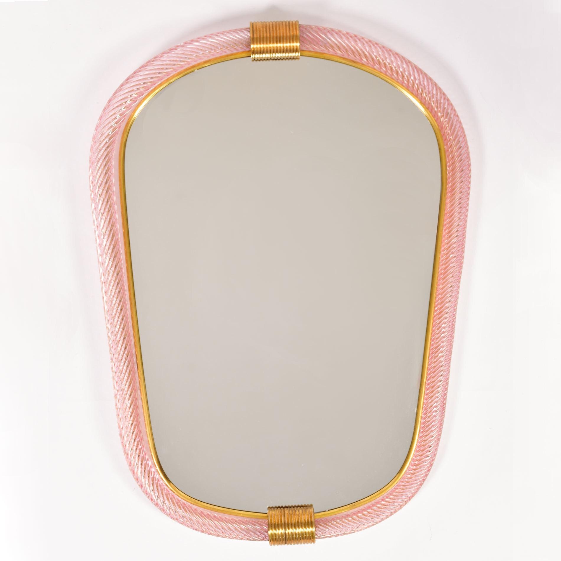 Firenze Mirror Pink Oblong 01