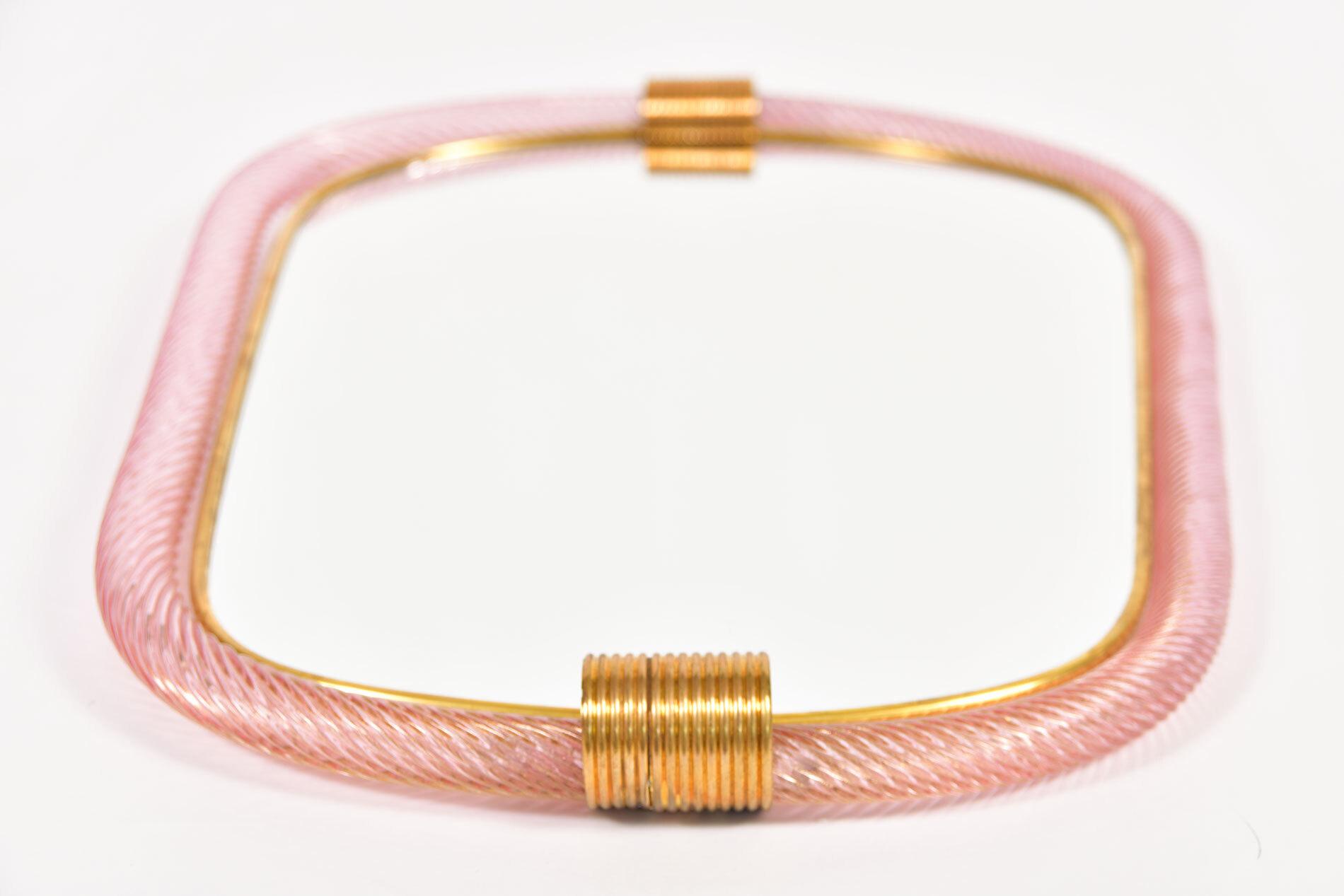 Firenze Mirror Pink Oblong 02