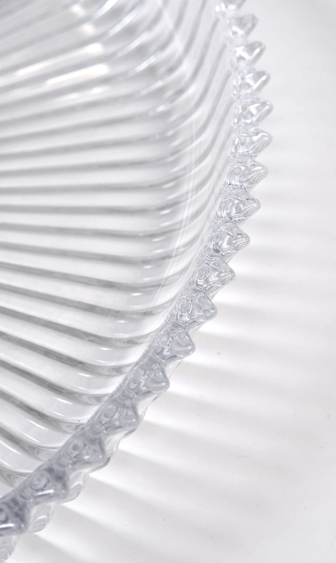 Fluted Glass Circular Tray 03
