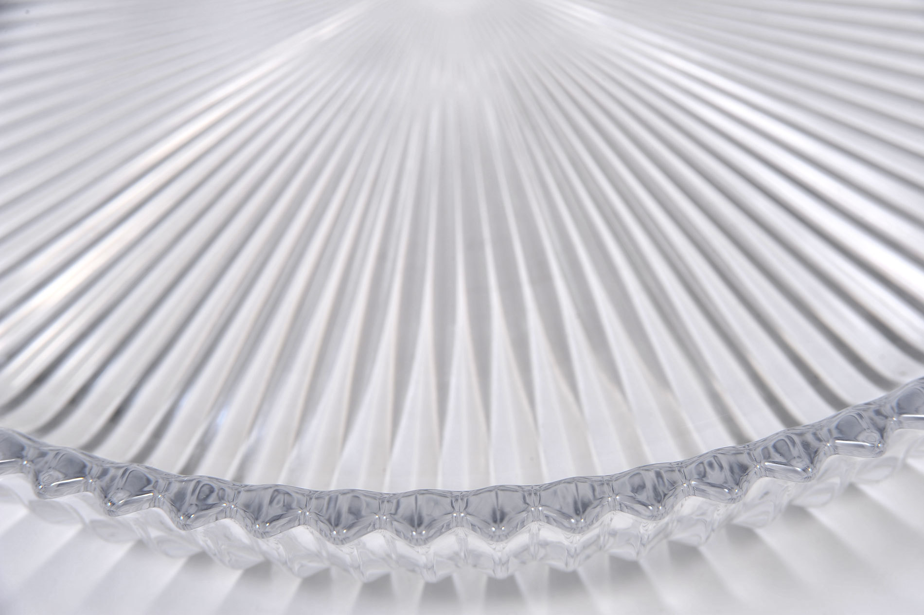 Fluted Glass Circular Tray 04
