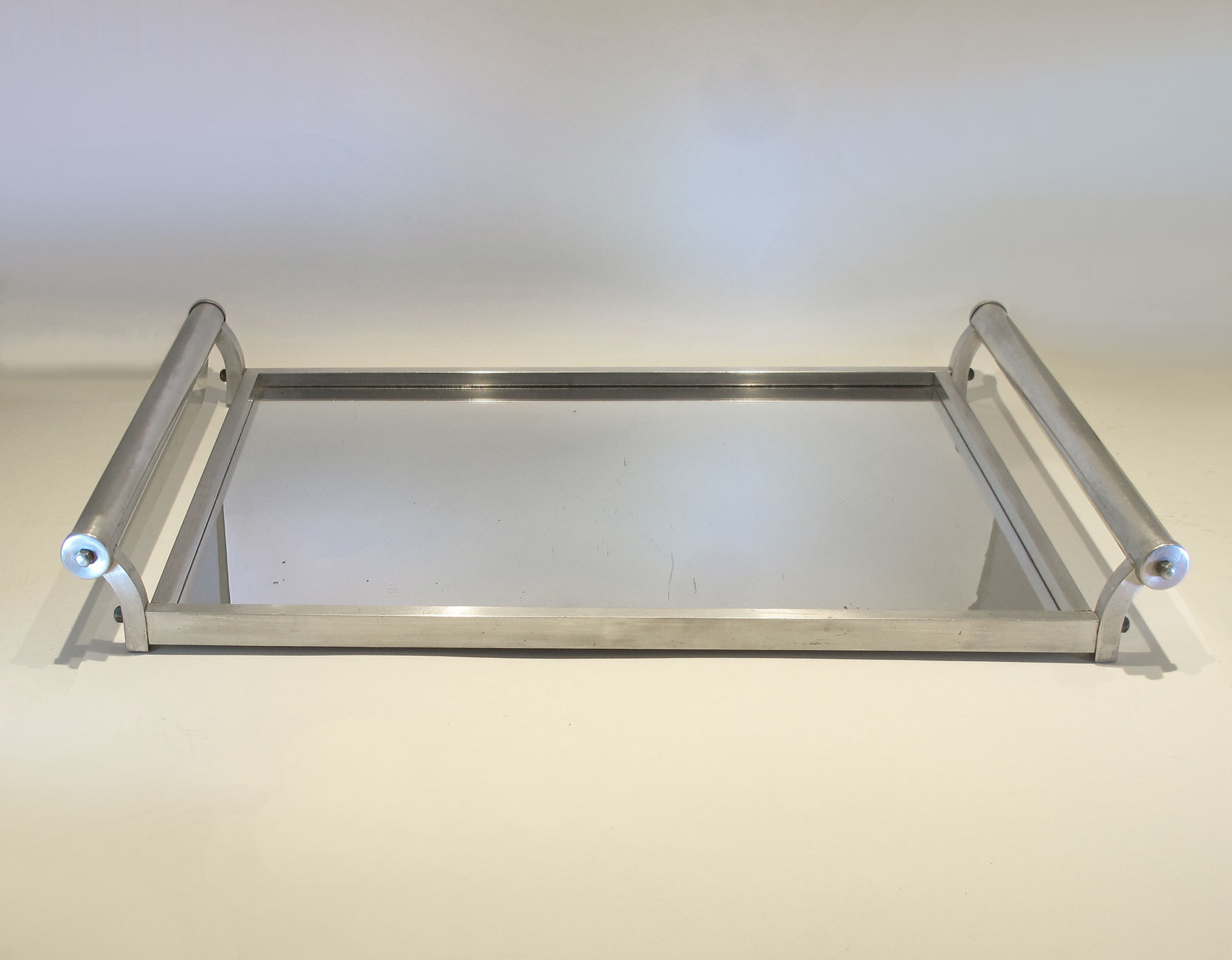 French Chrome Rectangular Tray 02