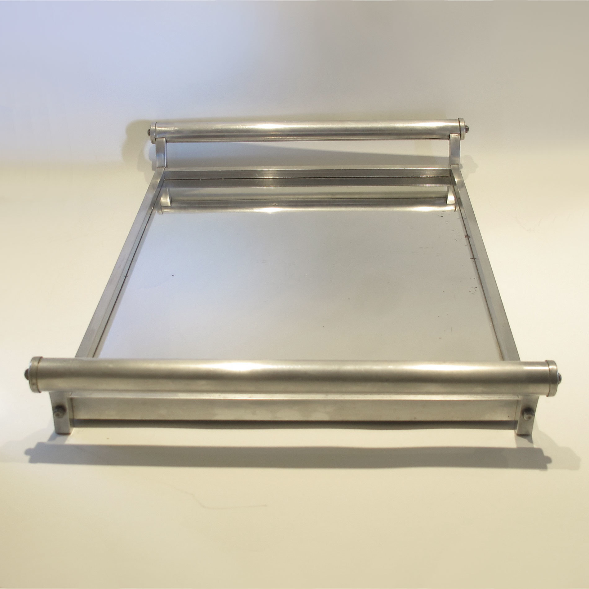 French Chrome Rectangular Tray 03