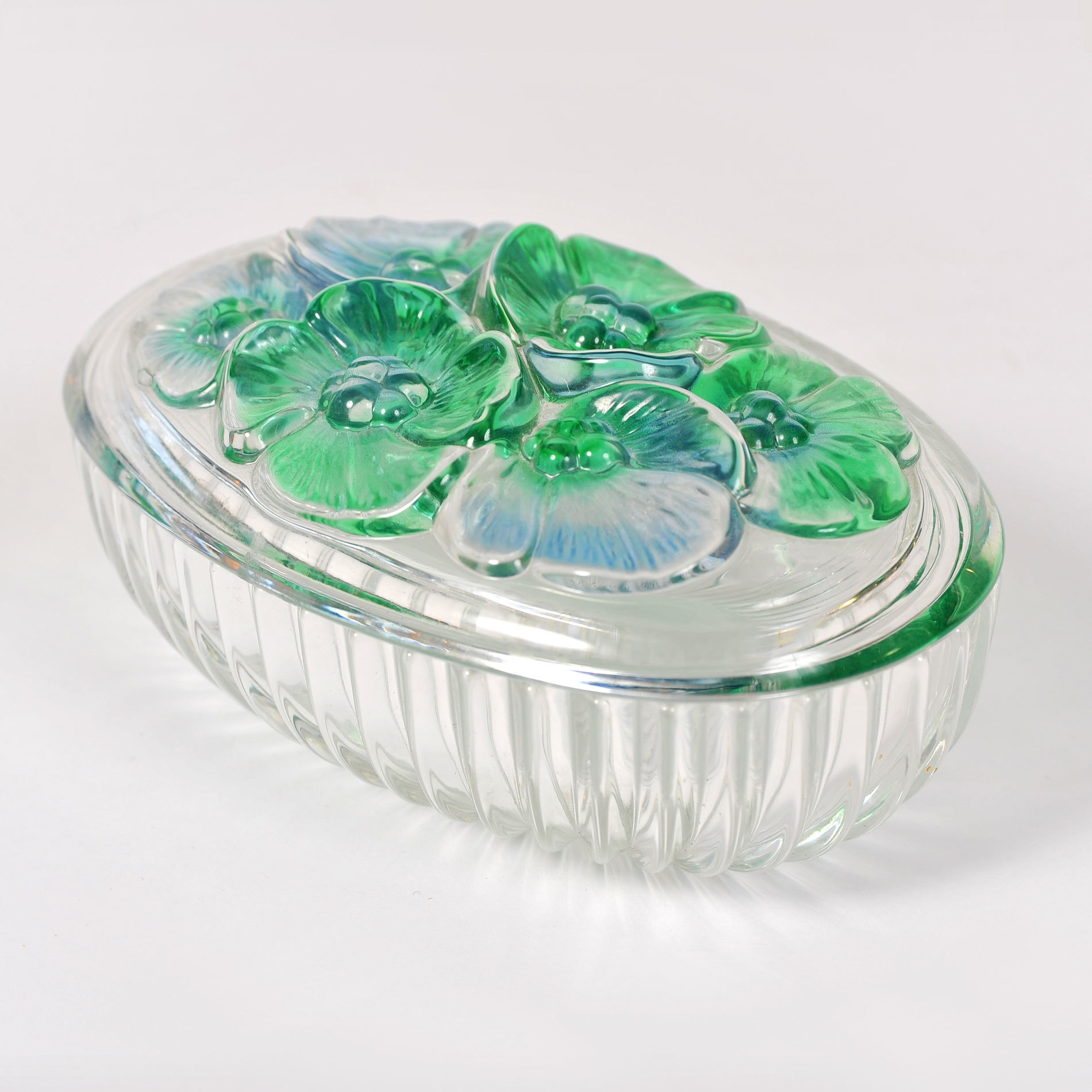 Glass Lidded Bowl 03