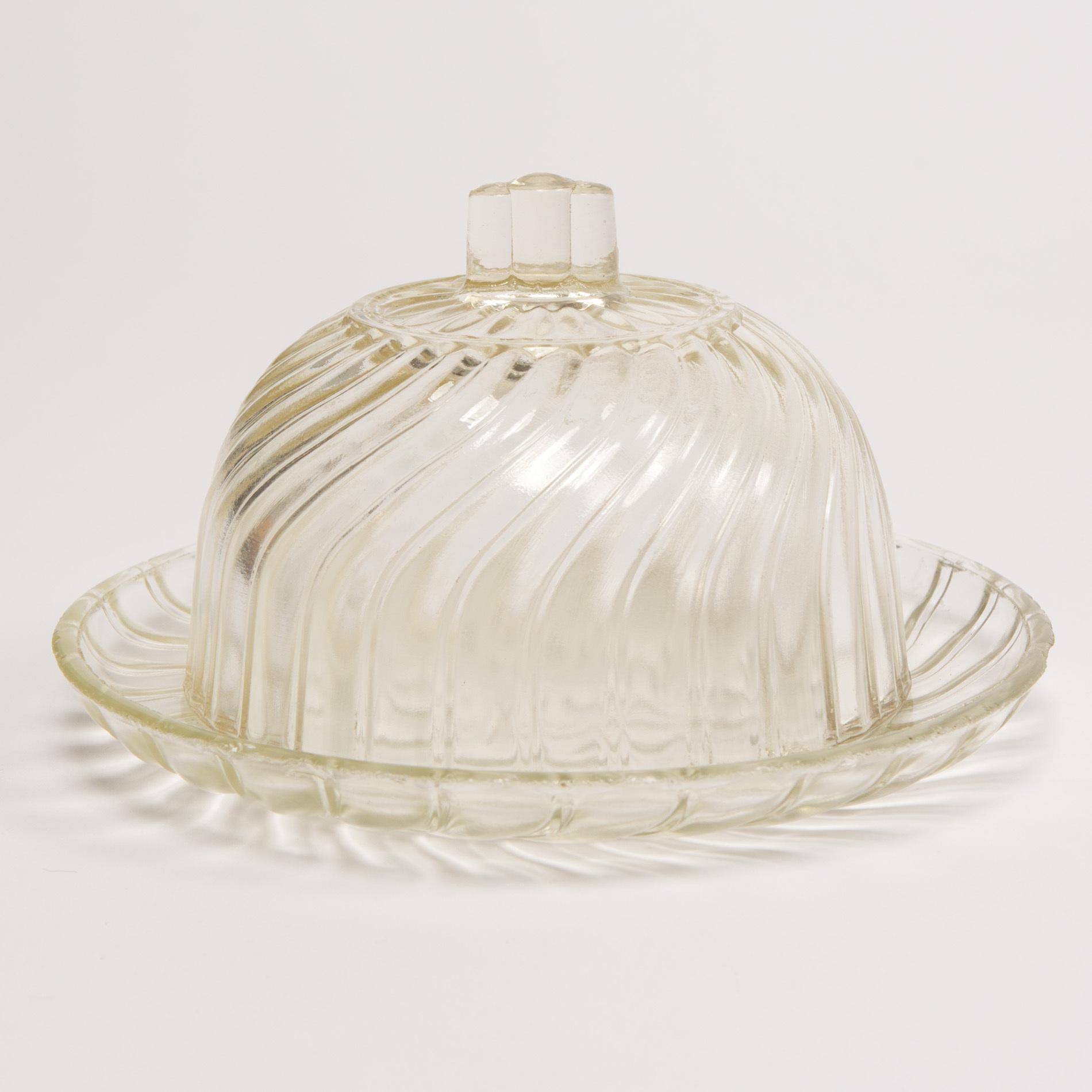 Glass Cheese Dish00001