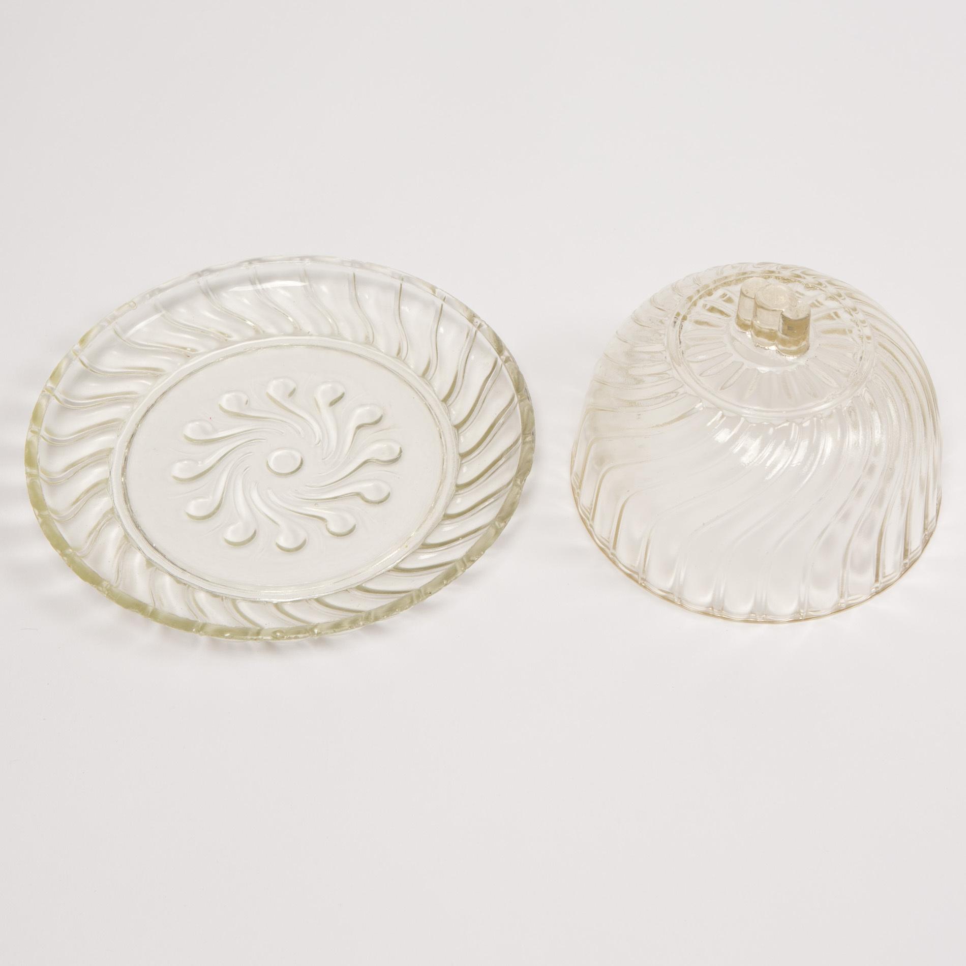 Glass Cheese Dish00004