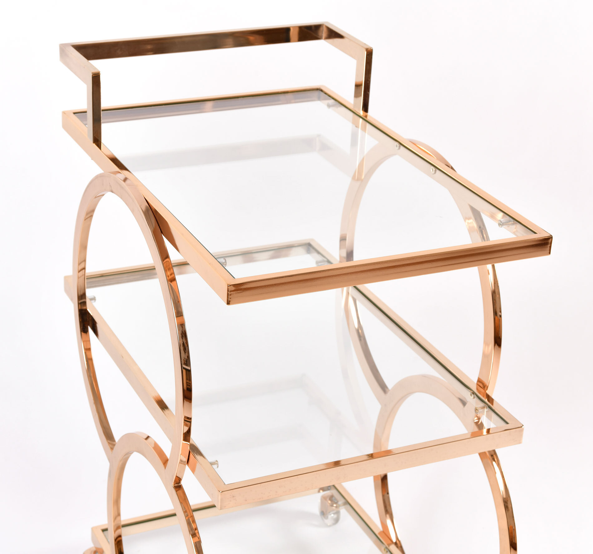 Gold American Drinks Trolley 04