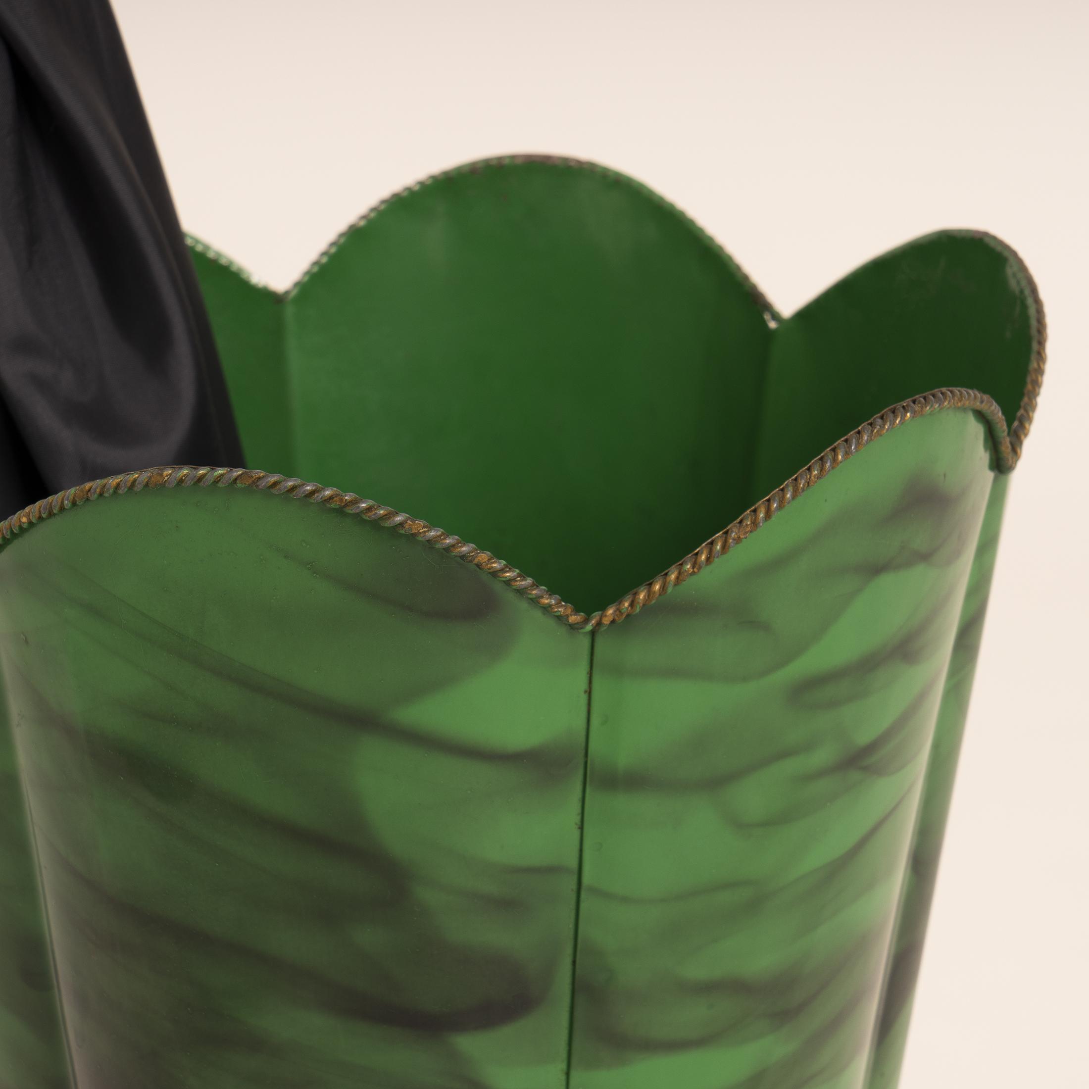Green Italian Umbrella Stand 0641