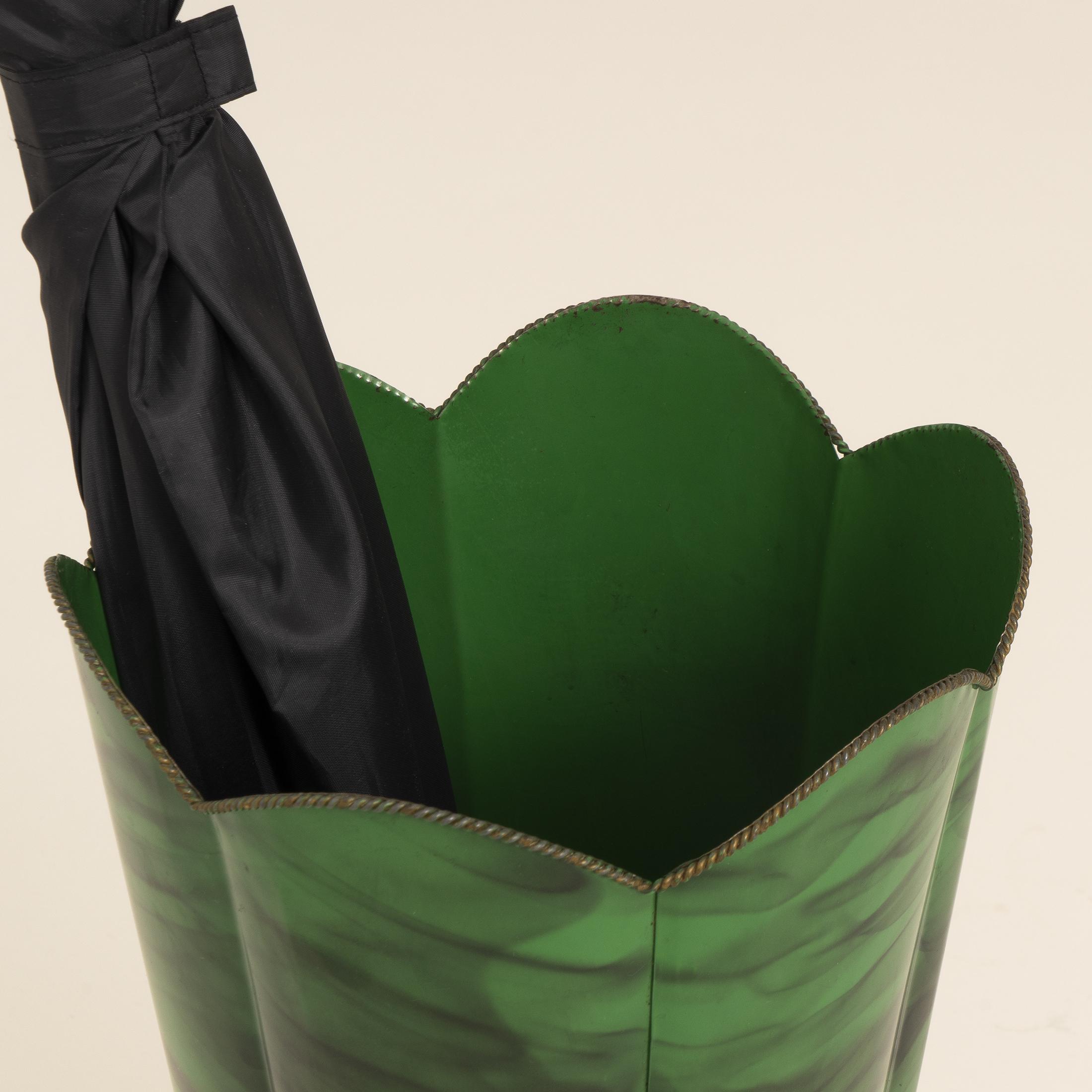 Green Italian Umbrella Stand 0644